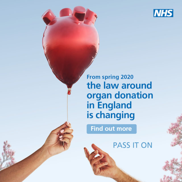 The new campaign encourages adults to pass on their organs (NHS Blood and Transplant/ PA)
