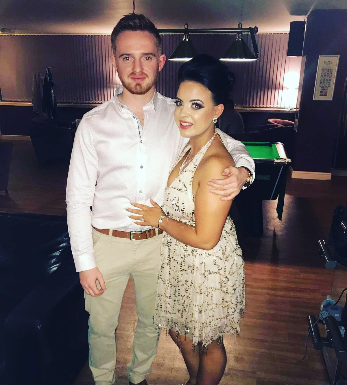 Alisdair Smith and Abigail McKie at their engagement party