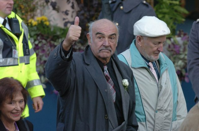Sir Sean Connery at the opening of the Scottish Parliament building in 2004