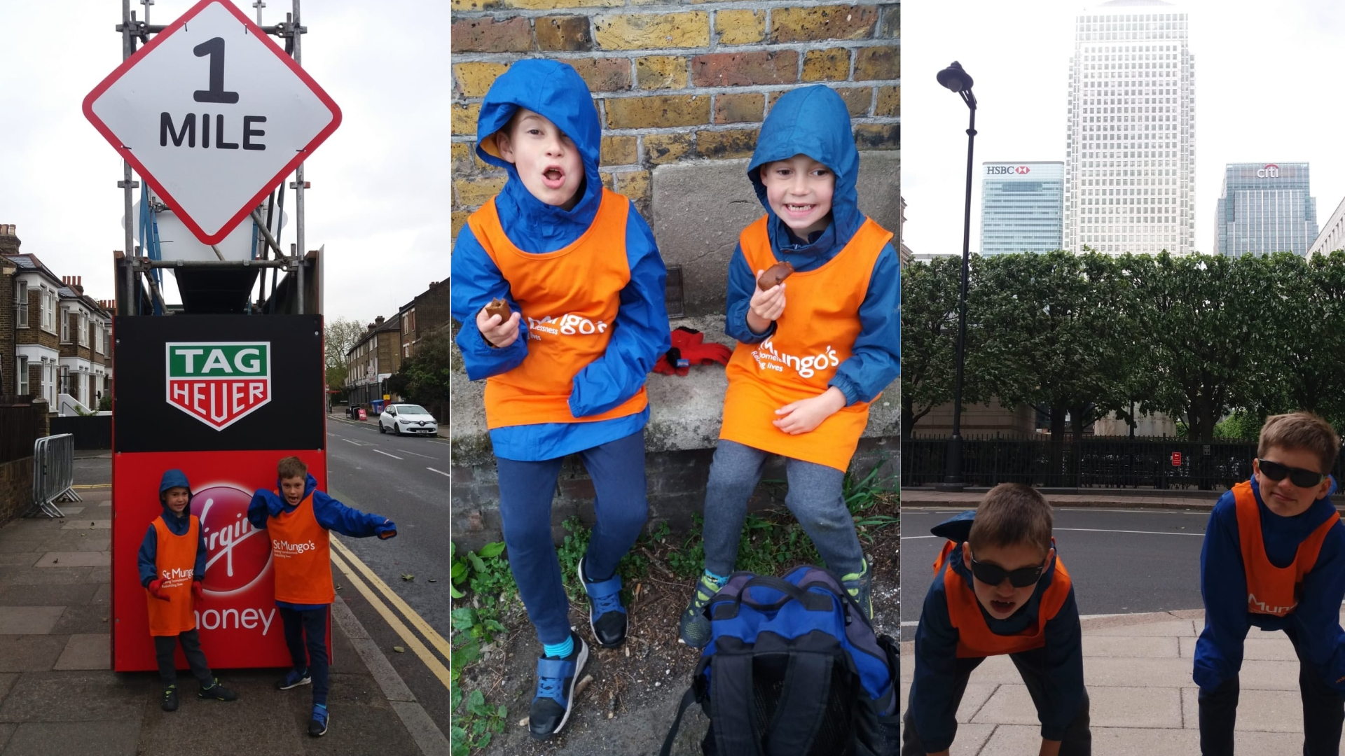 Nicholas and Alex walk the London Marathon route