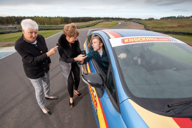 Adverts featuring grandmothers appearing in their grandsons' cars have been launched by the Scottish Government and Road Safety Scotland (A campaign attempting to reduce crashes involving young Scottish men will encourage them to imagine their gran is in the car (Chris James/PA)