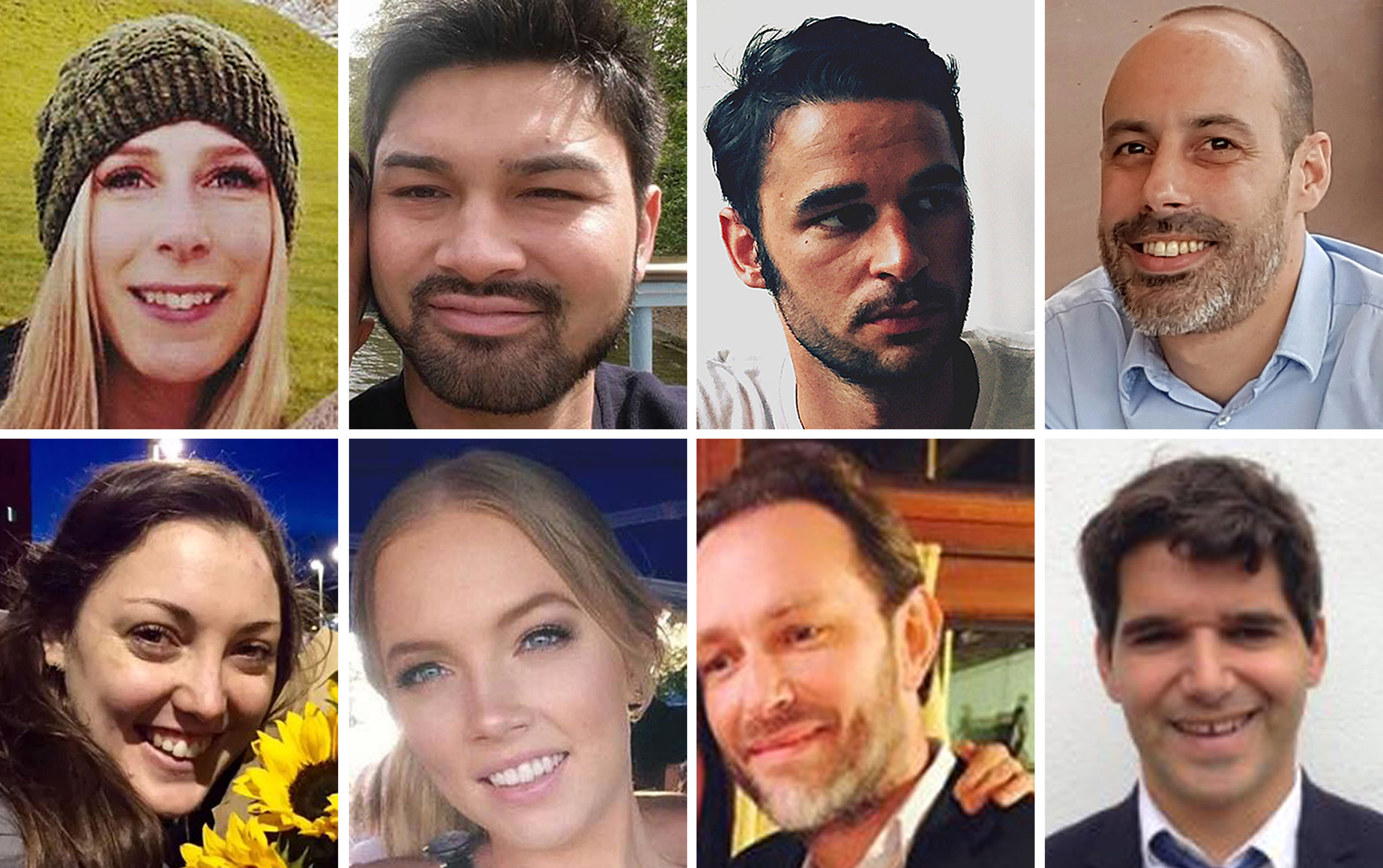 Pictures of terror attack victims