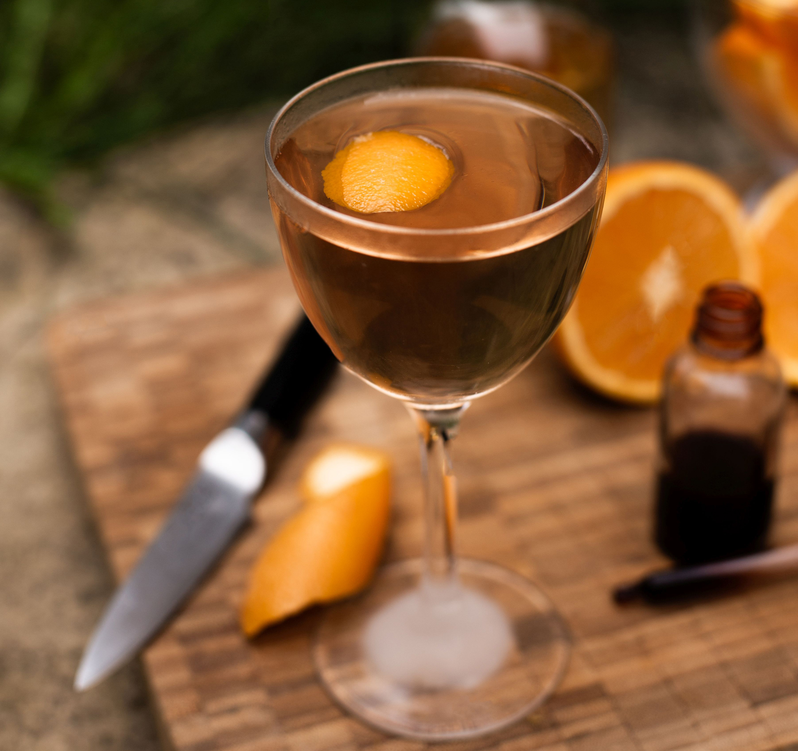 Orange martini cocktail