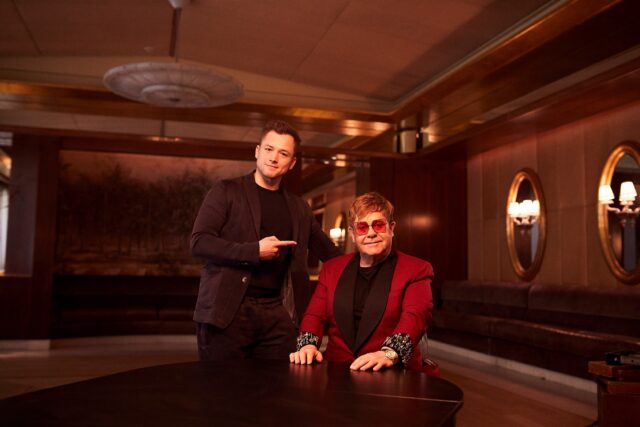 Sir Elton John and Taron Egerton