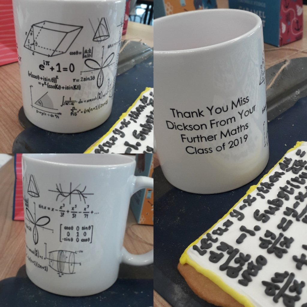 A mug which Ella's students gave her as a present