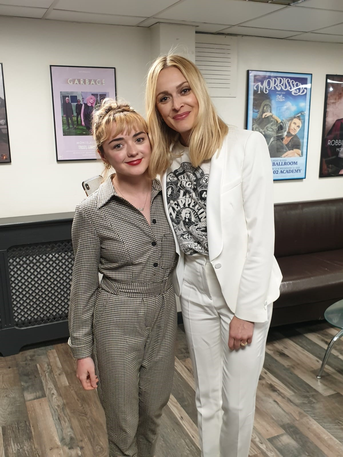 Maisie Williams and Fearne Cotton
