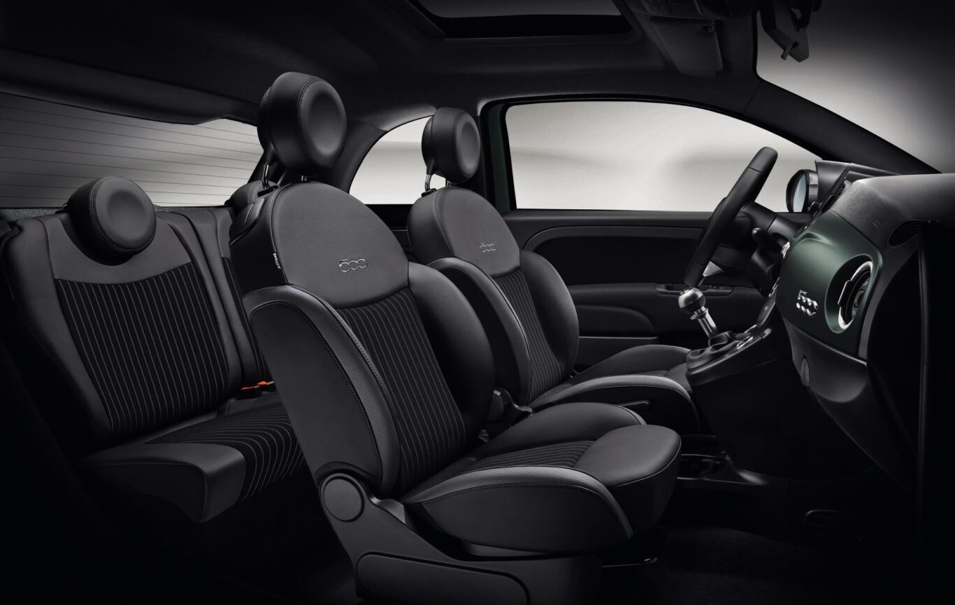 The Rockstar's interior features pin-striped fabric