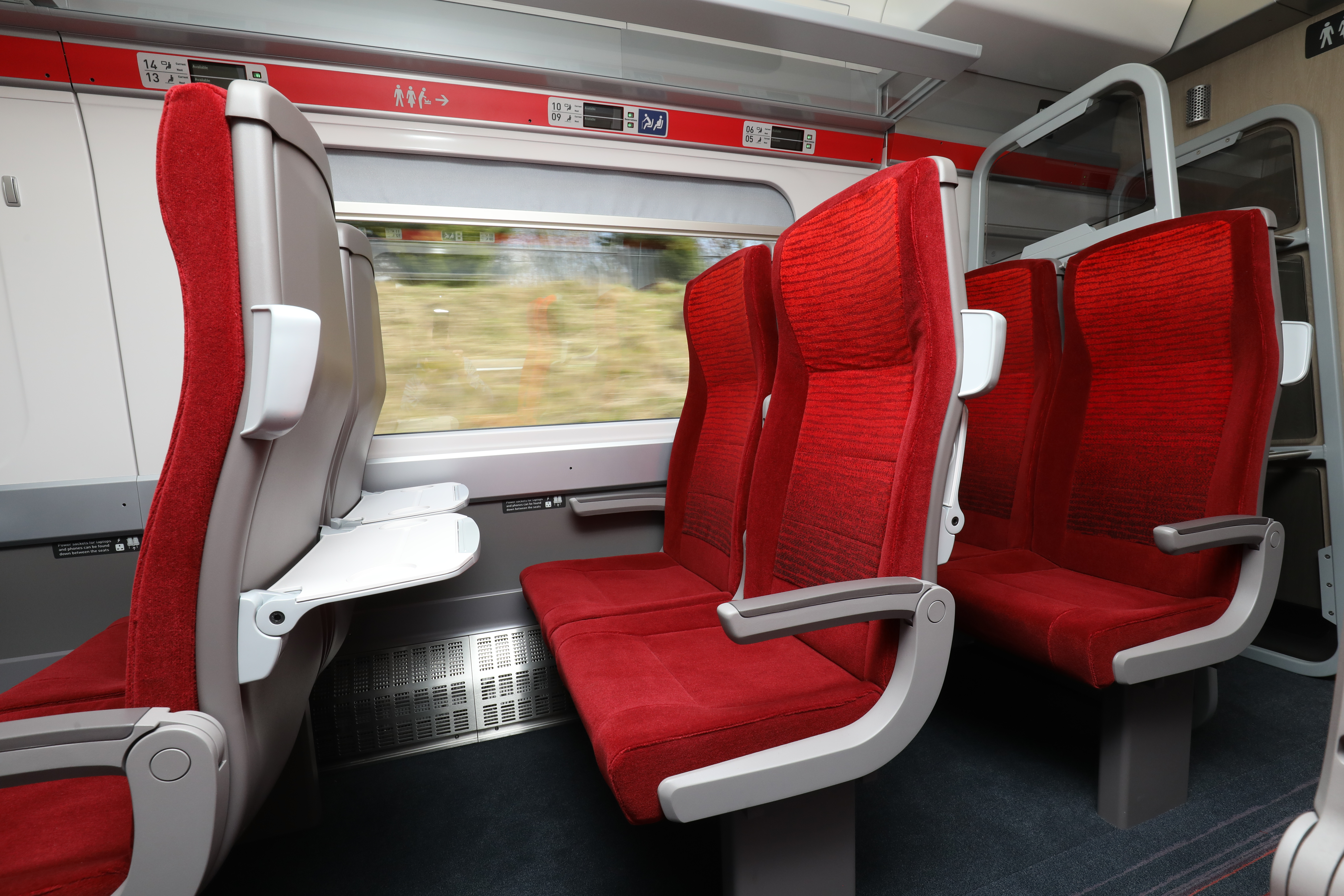 The interior of a standard class Azuma train carriage (LNER/PA)