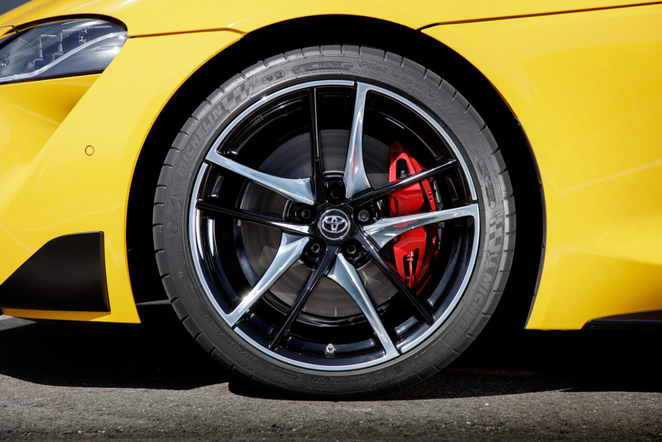 The Supra gets intricate alloy wheels