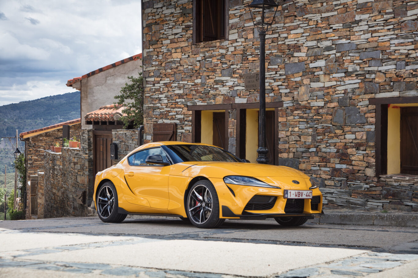 The Supra sits on the same platform as the BMW Z4