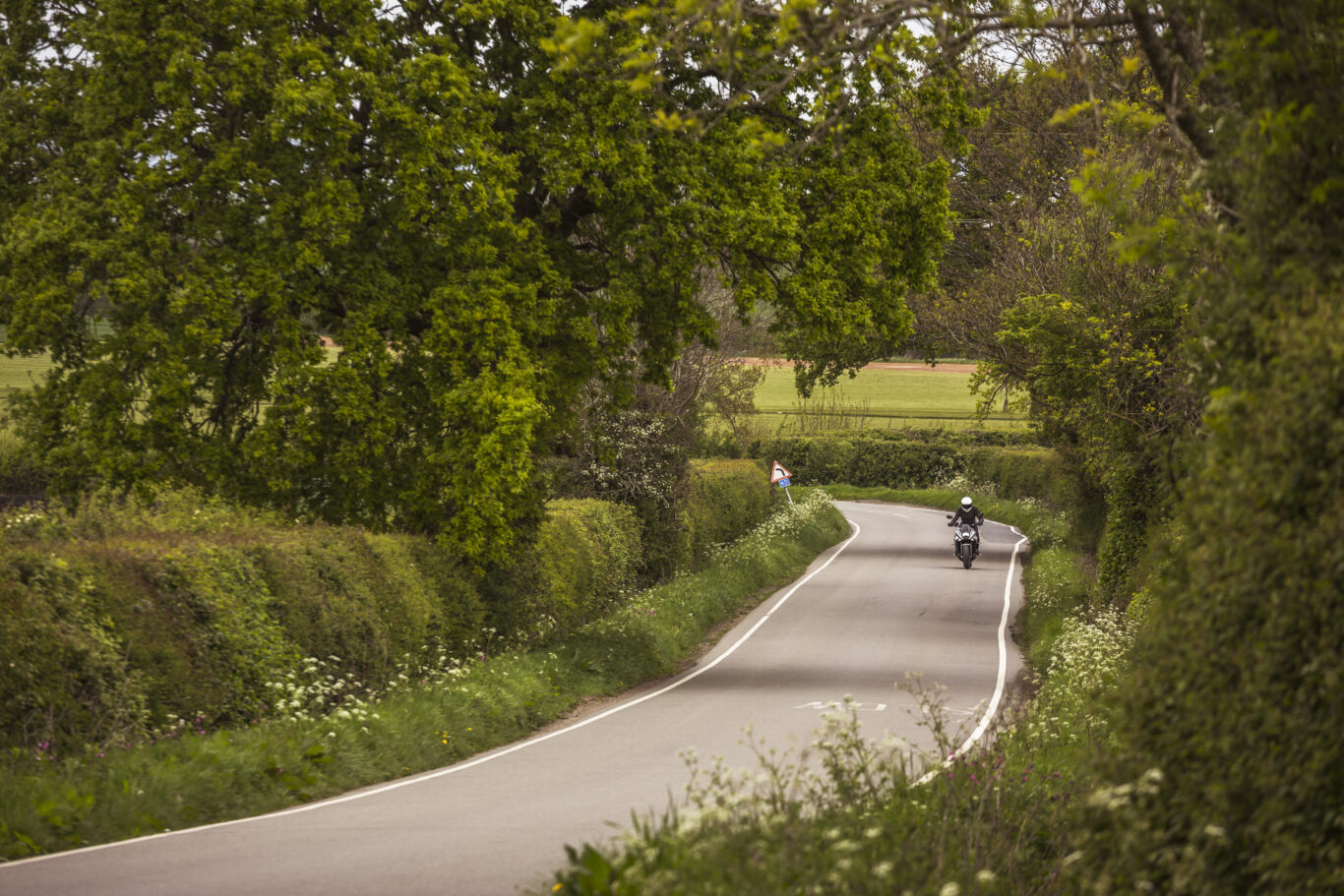 The Katana feels at home on the UK's country roads