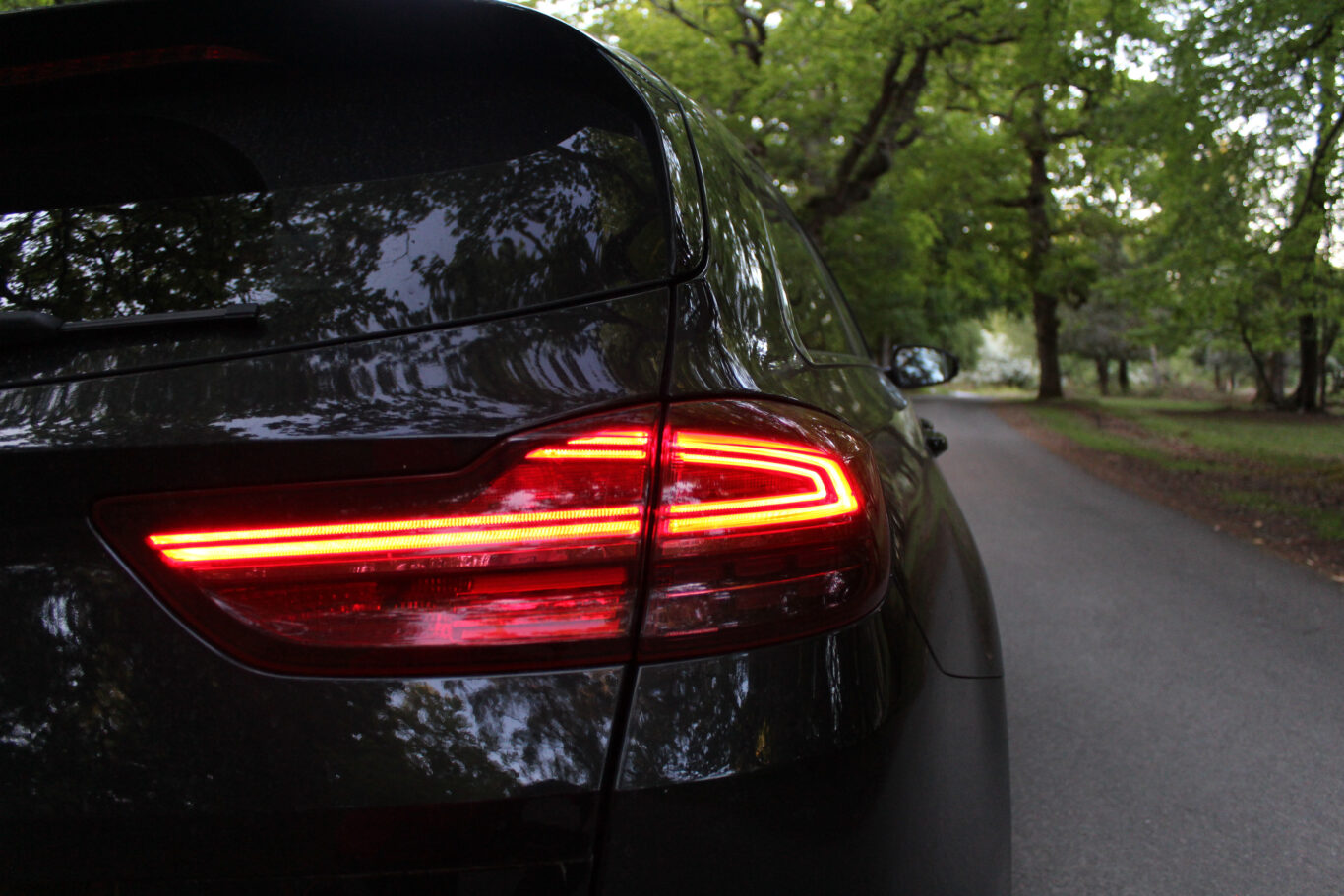 The rear lights are a standout design feature