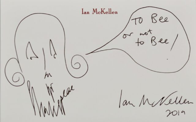 A work signed by Sir Ian McKellen