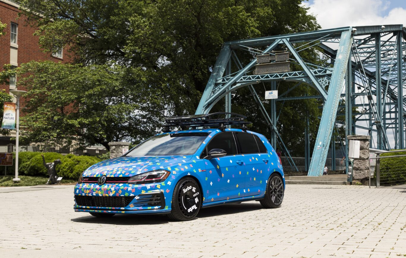 This Golf GTI gets an eye-catching paint scheme