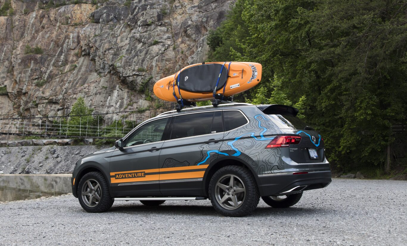 The Tiguan concept gets a kayak holder