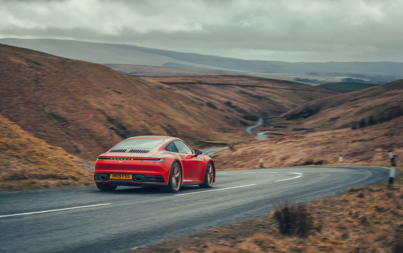 The 911 is at home on winding British roads