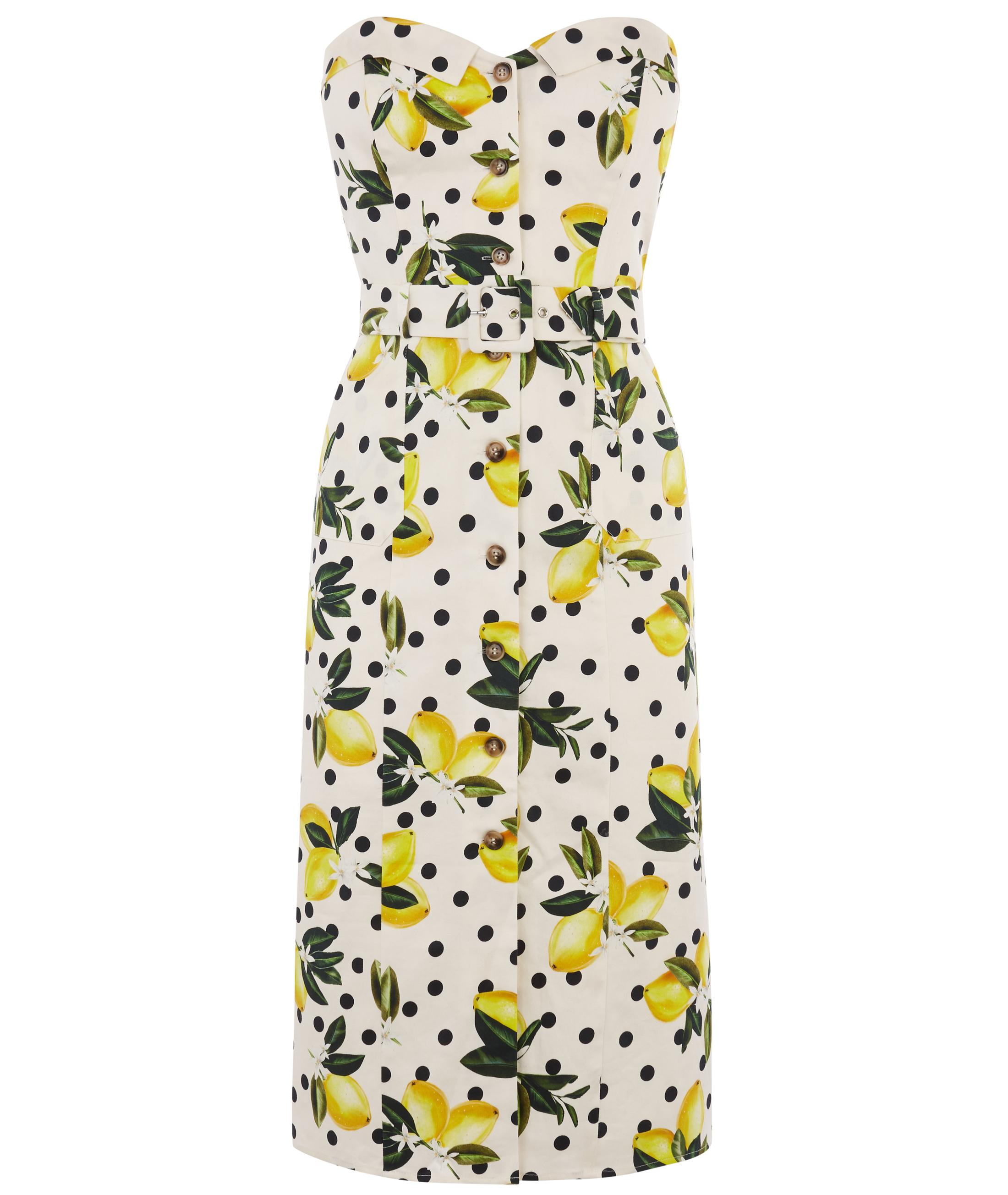 Oasis Lemon Bandeau Dress