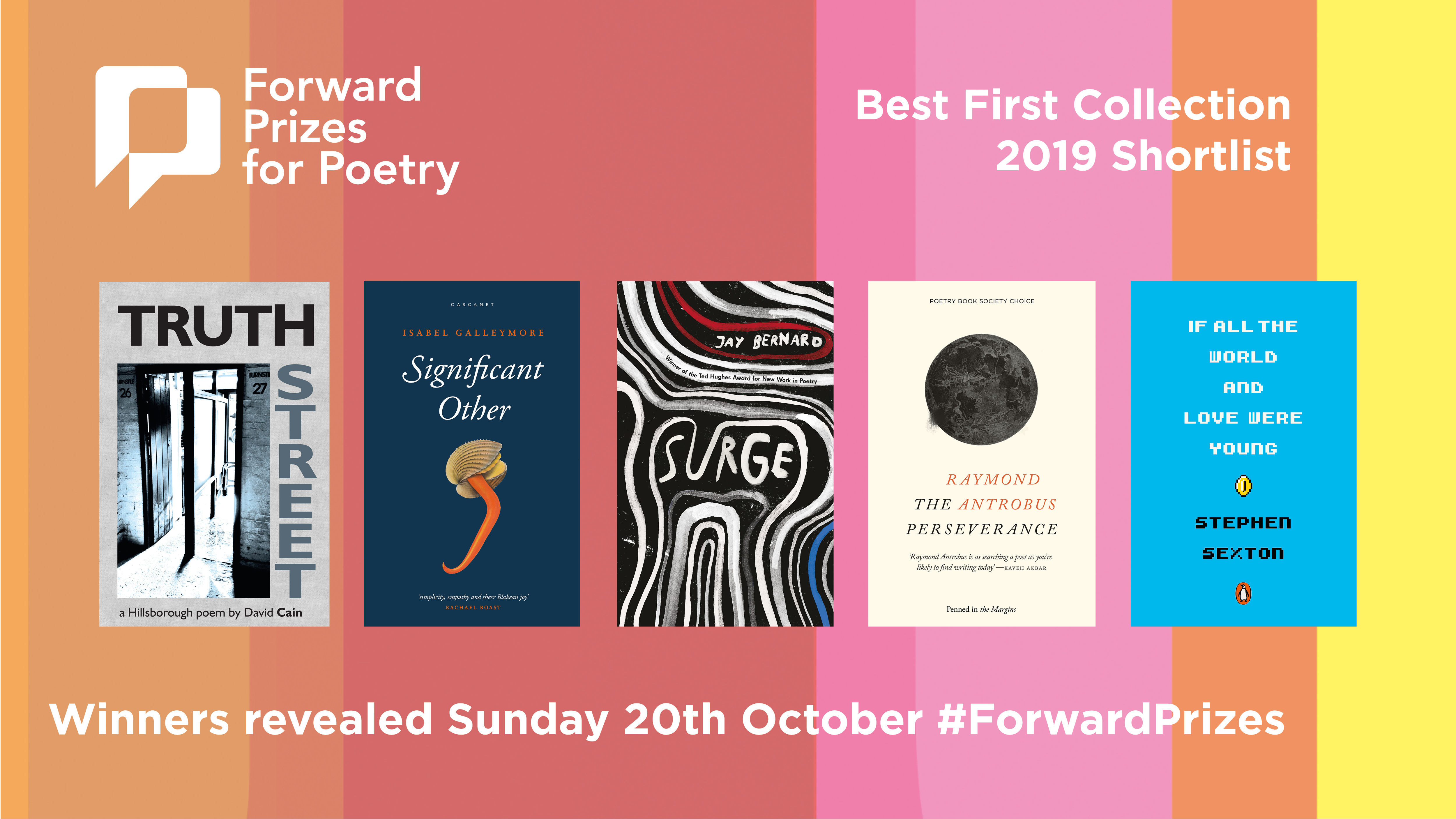Some of the books shortlisted for The Forward Prizes For Poetry