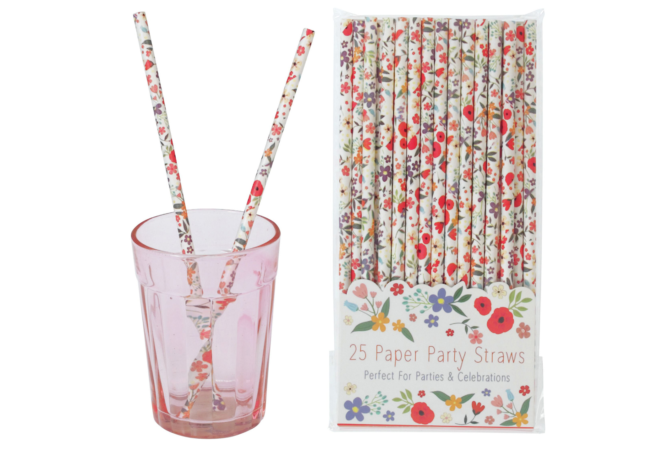 Summer Meadow paper straws, Rex London