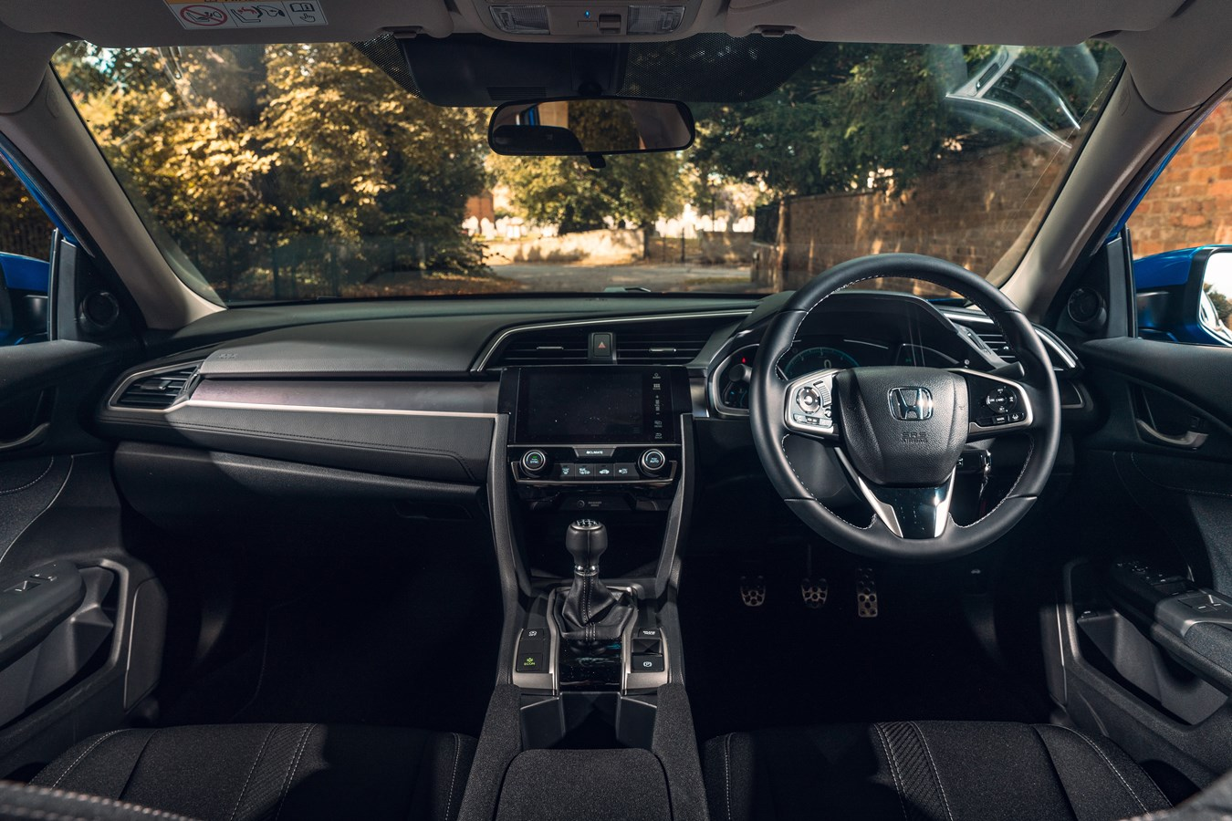 The interior of the Civic is ergonomically laid out