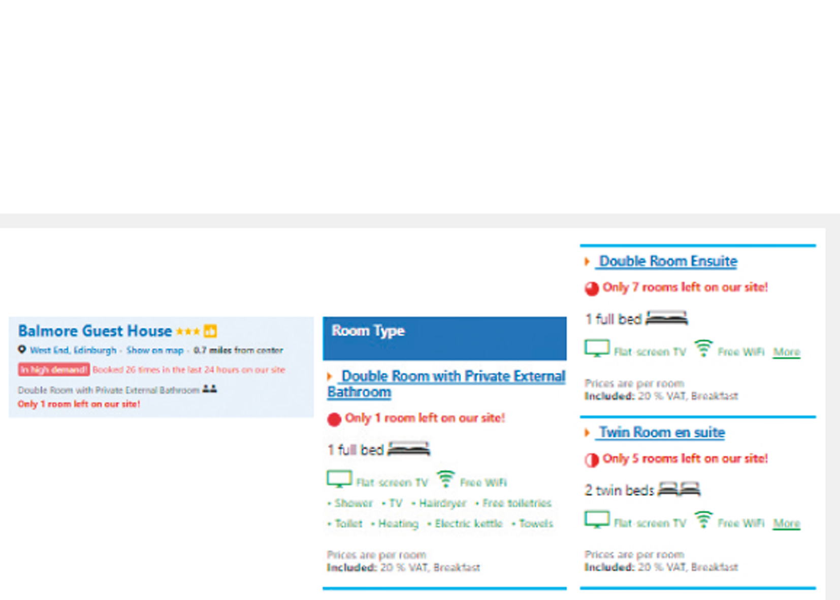 Screenshot of Booking.com