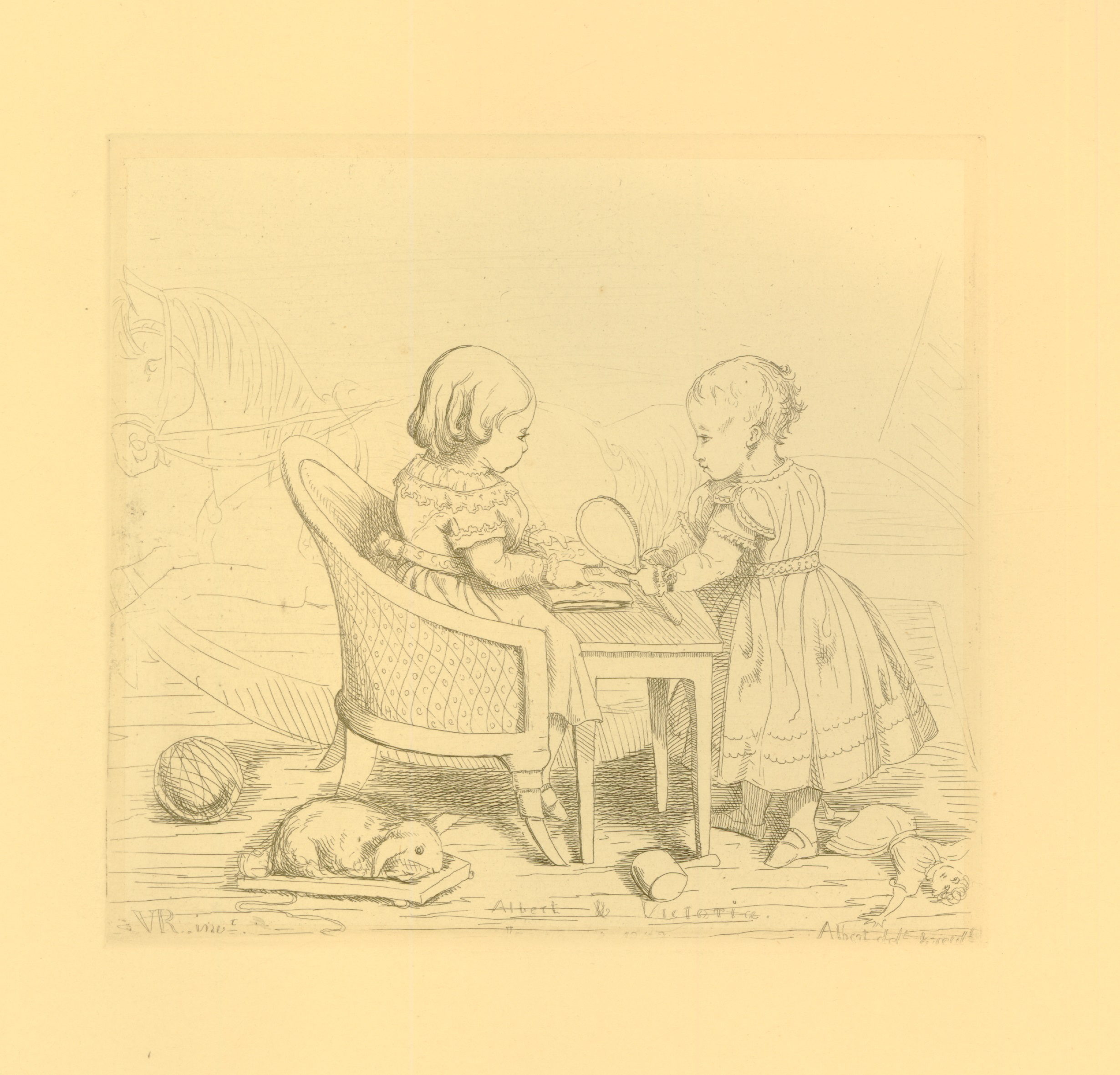 Etching by Queen Victoria and Prince Albert