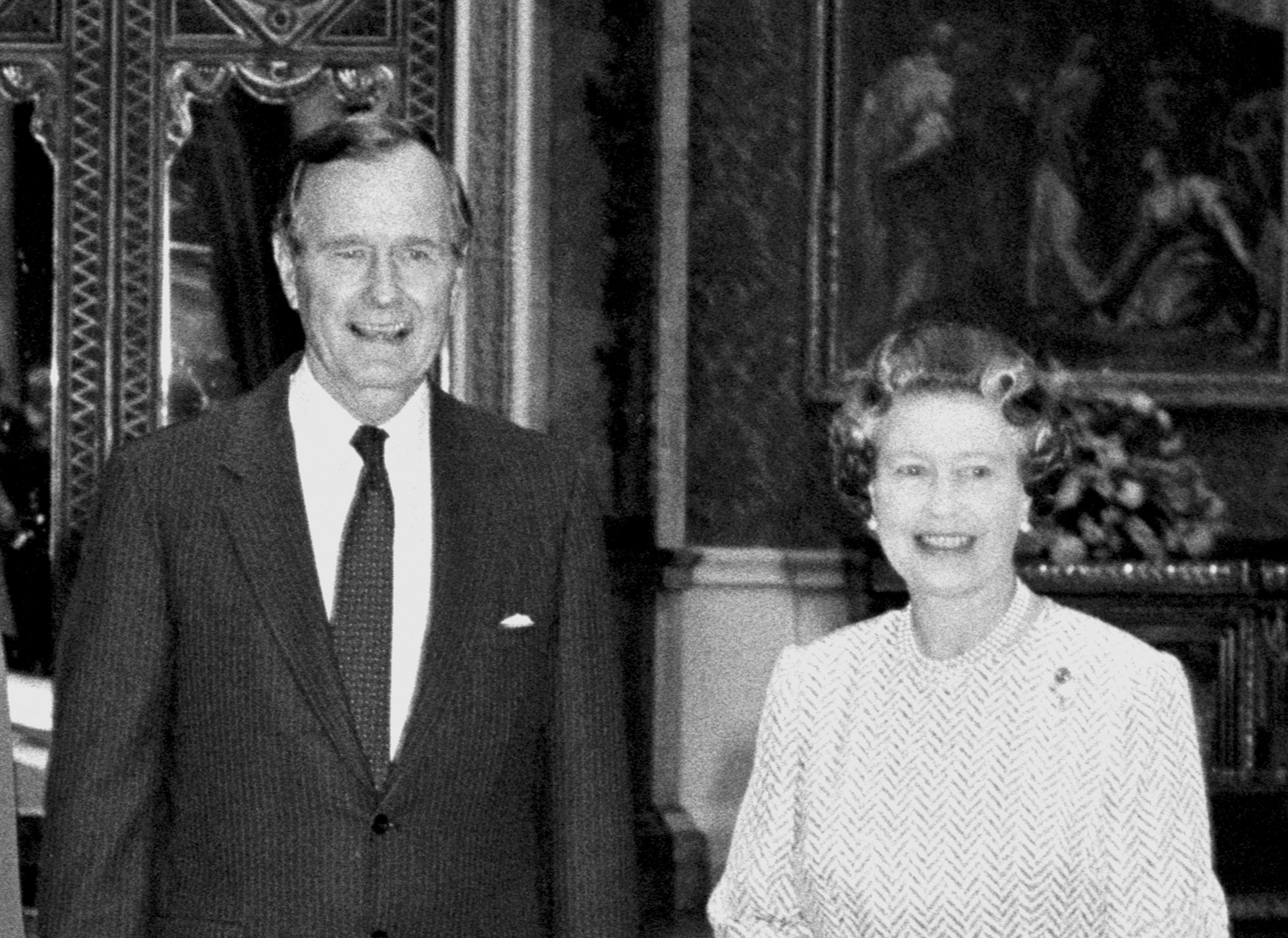 The Queen and George Bush Snr