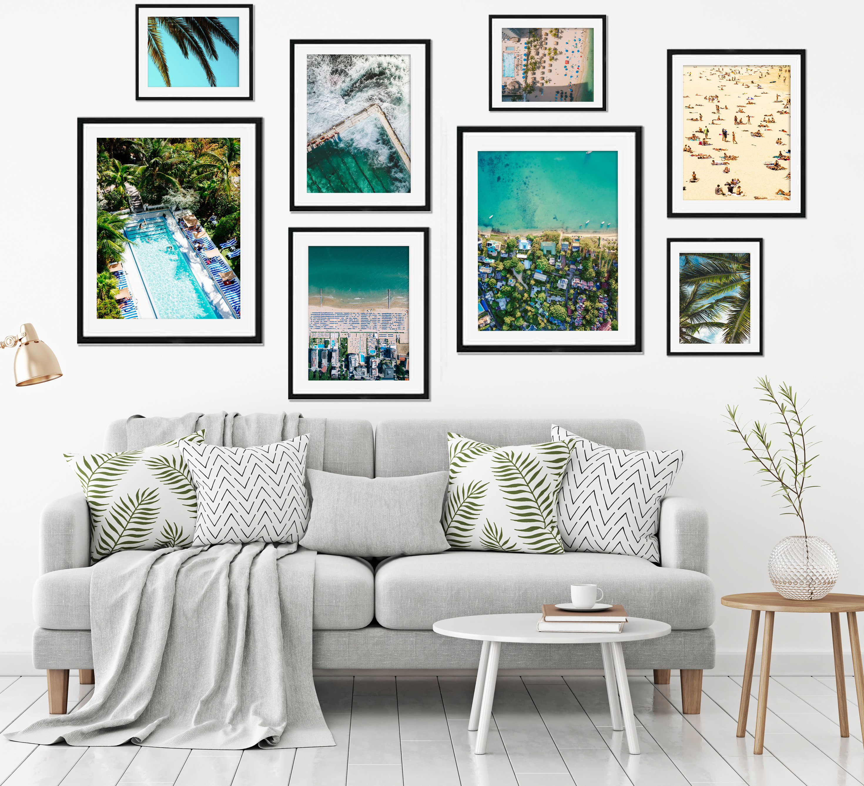 Tropical Paradise, Wall Art Print Set of 8, £99.95, Abstract House (Abstract House/PA)