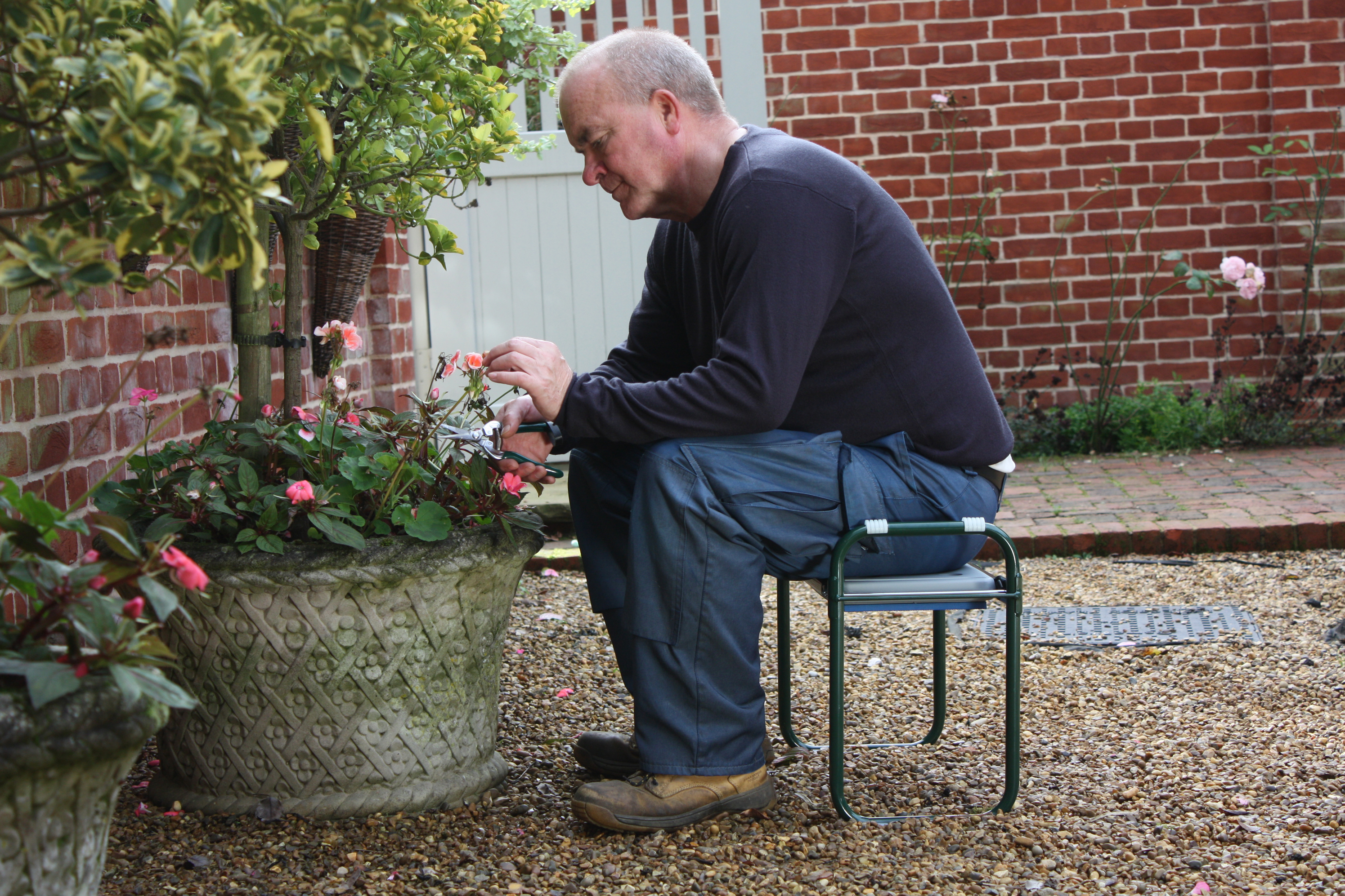 Make gardening more comfortable with this folding kneeler and seat (Harrod Horticultural/PA)