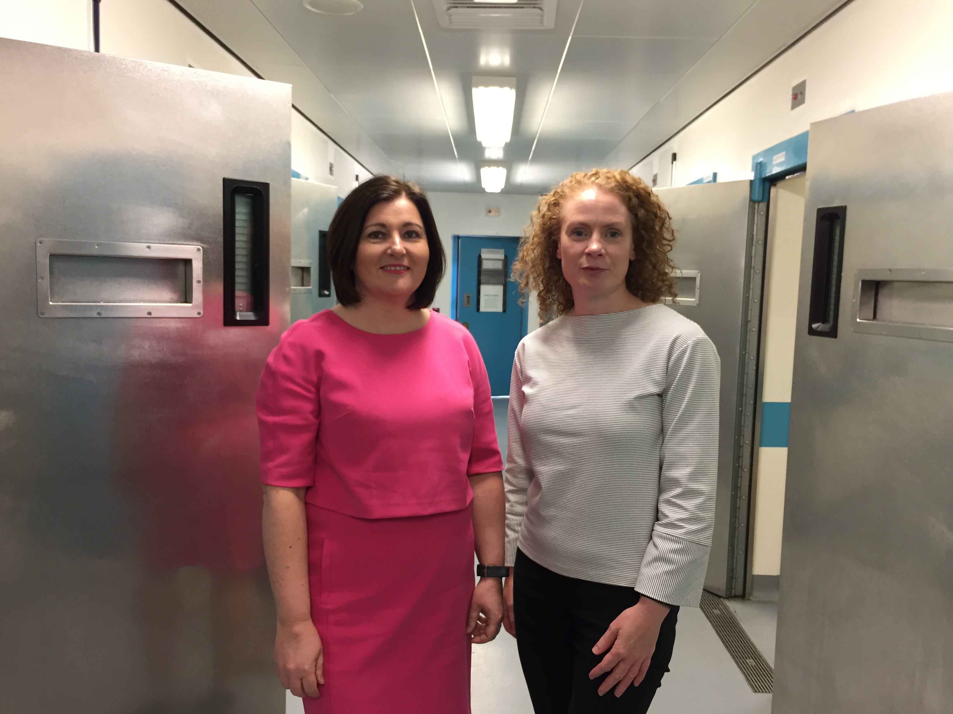 Charlotte McArdle, left, Northern Ireland's chief nursing officer, with Una Williamson, the PSNI's head of reducing offending and safer custody