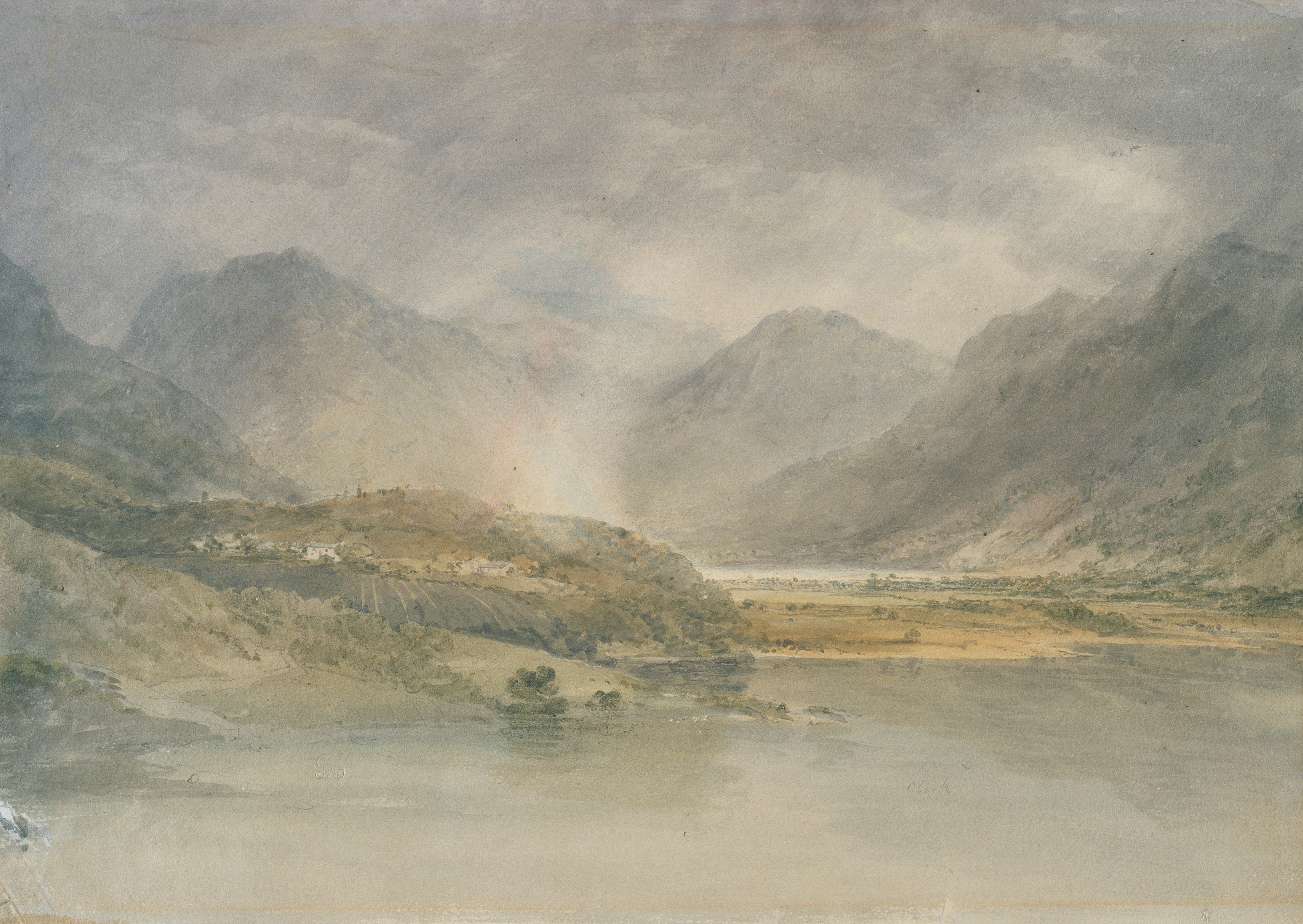 Turner watercolour from Tweed and Lakes Sketchbook, Crummock Water, Looking towards Buttermere (Tate, London 2019/PA)