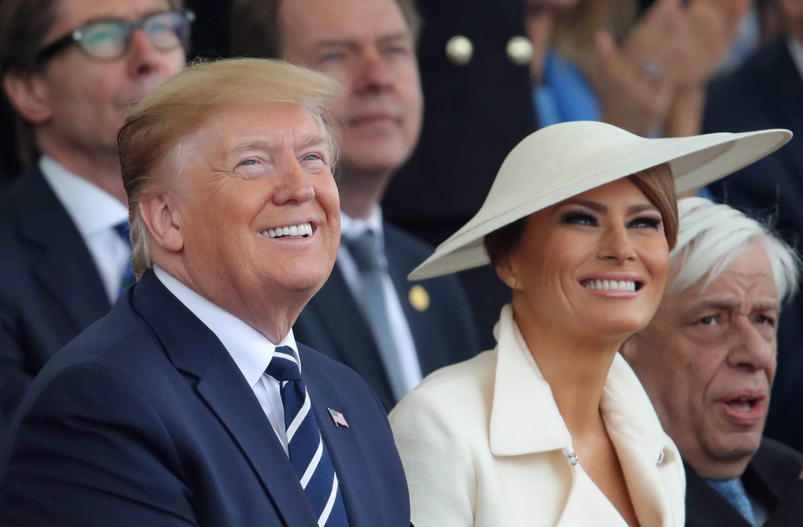 Donald and Melania Trump smiling