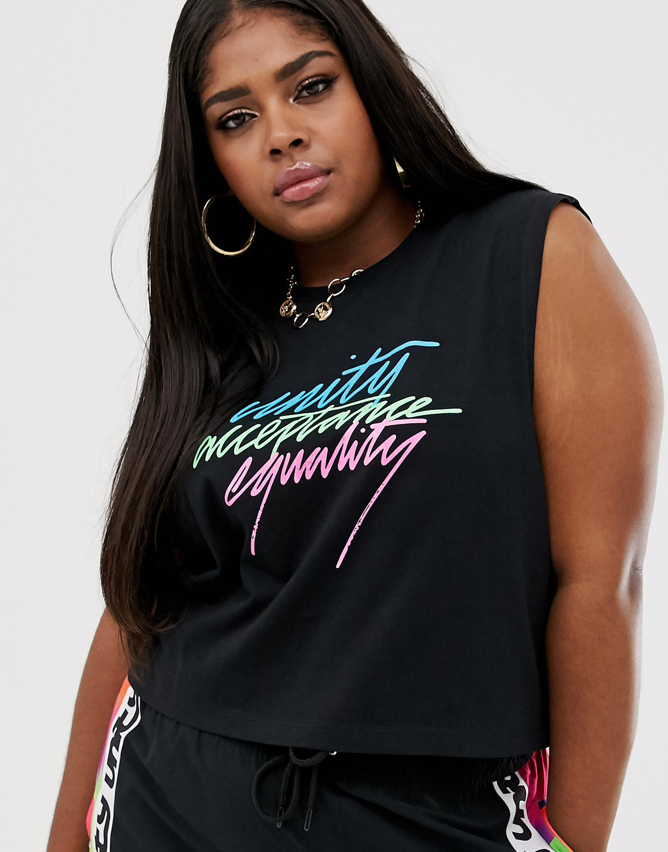 ASOS Design x GLAAD Curve Sleeveless T-shirt with Tour Print