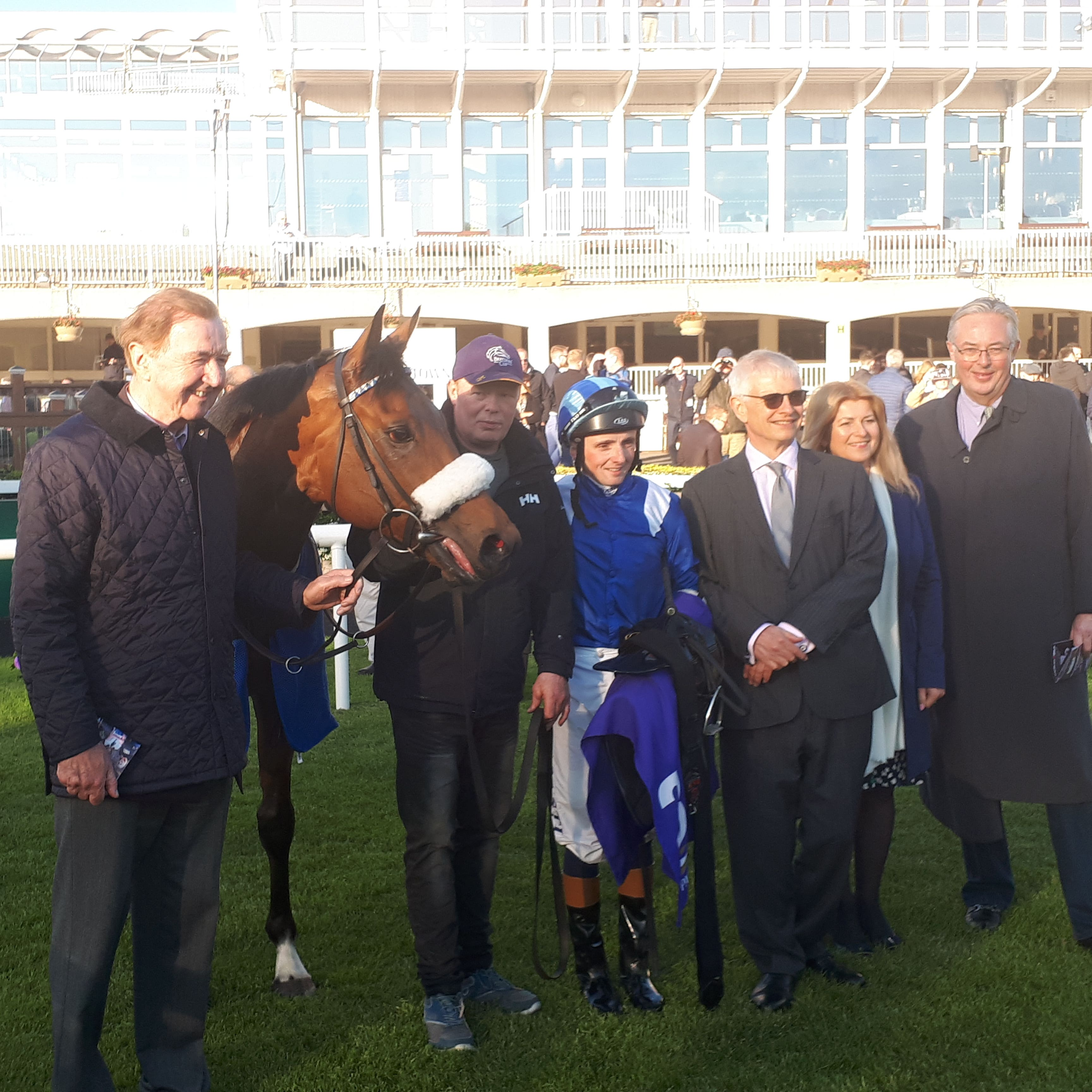 Dermot Weld (left) with Rakan after his win at Leopardstown