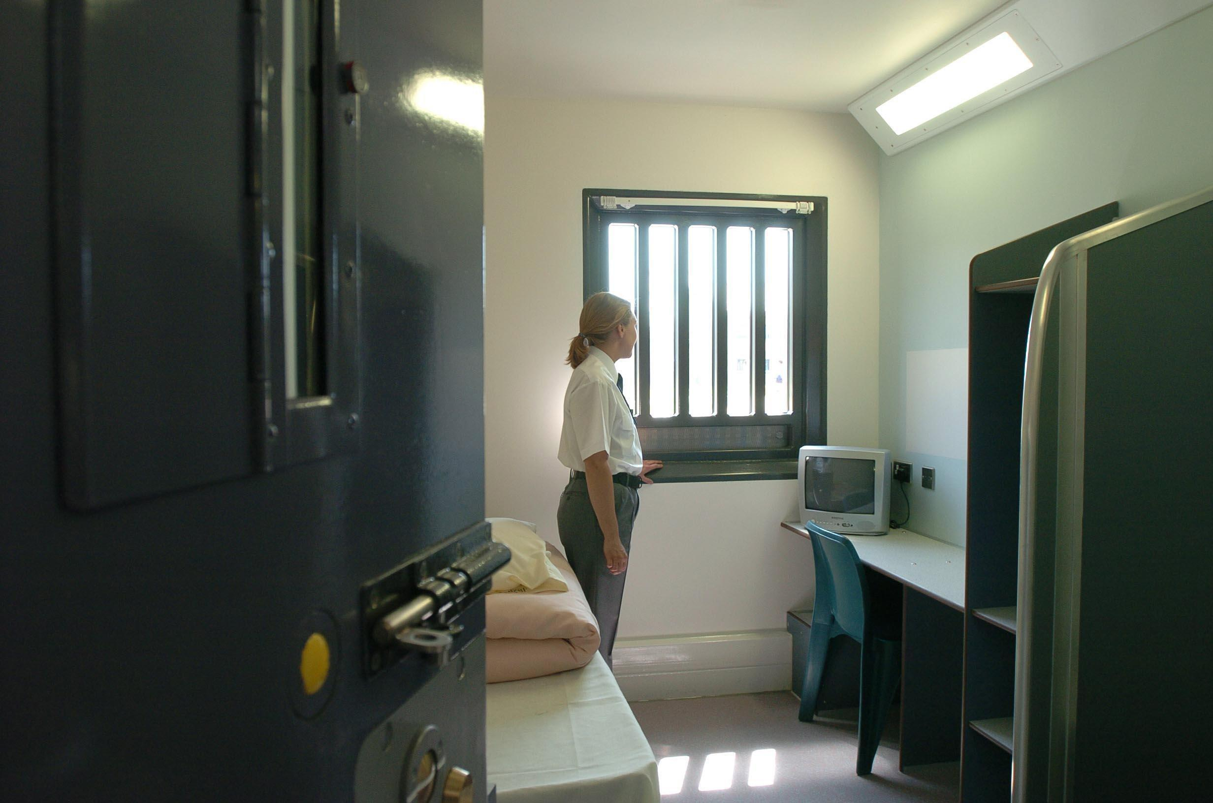 A cell at Bronzefield Women's Prison (Tim Ockenden/PA)