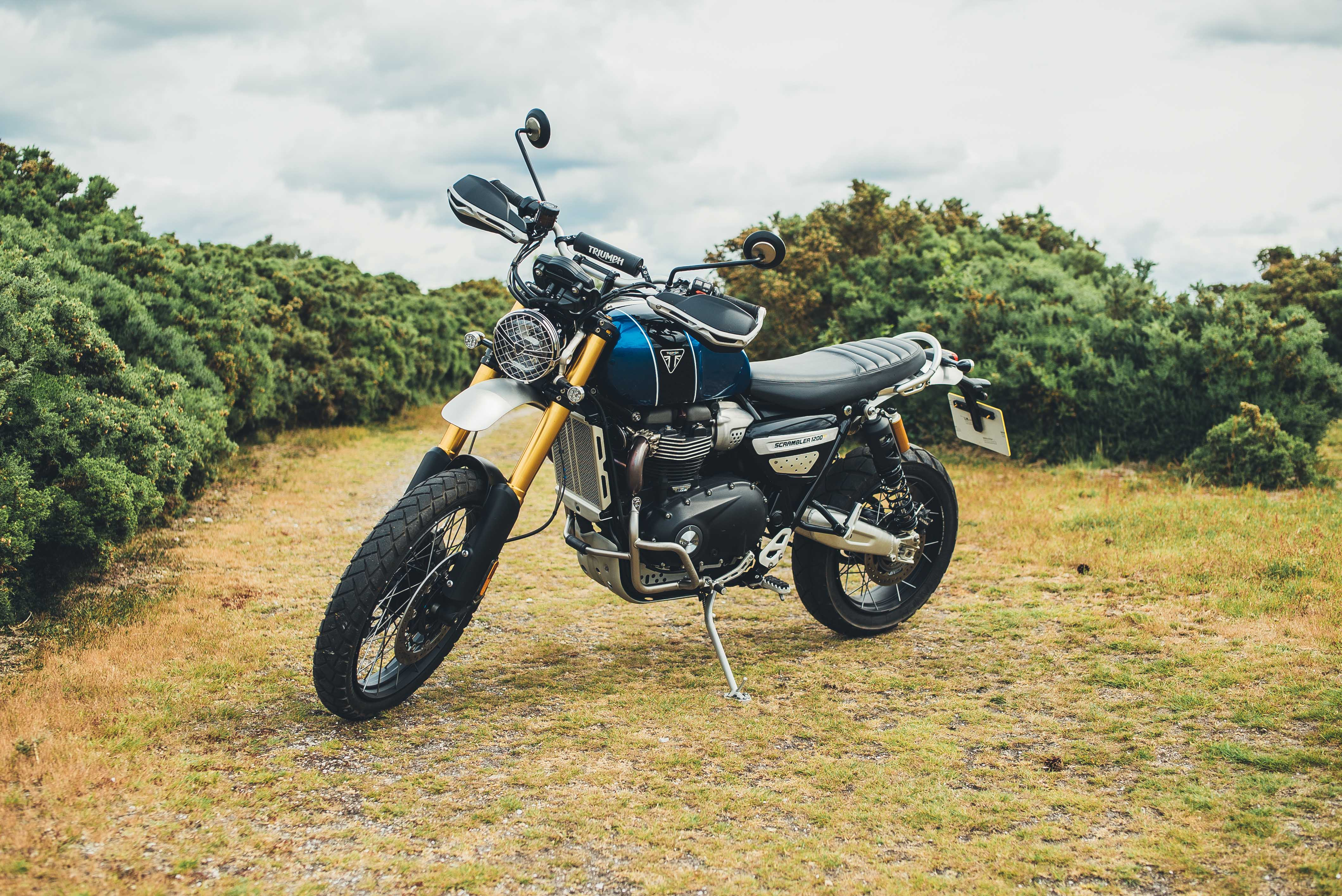 The Scrambler benefits from Ohlins forks