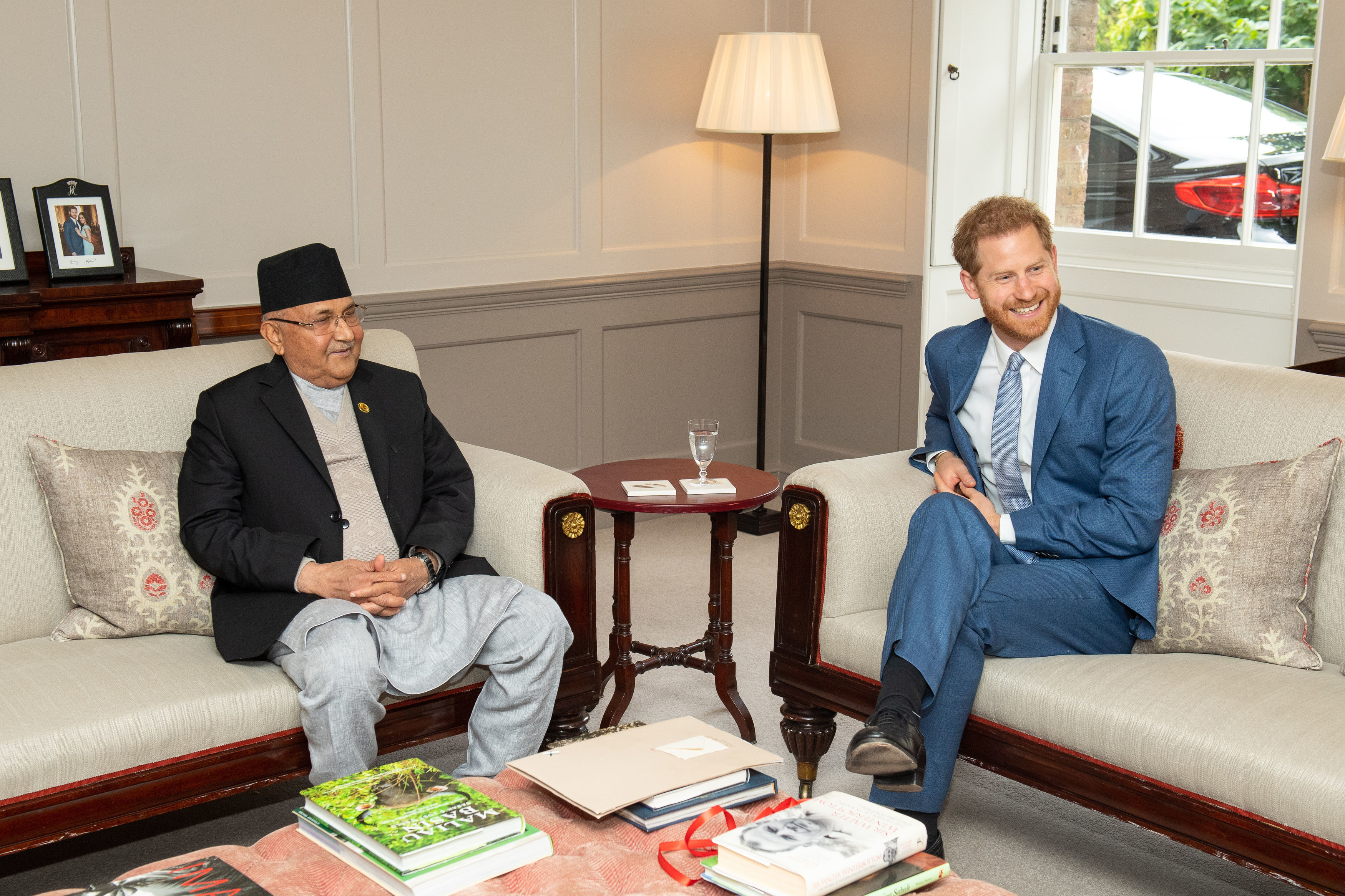 Harry with Nepalese Prime Minister KP Sharma Oli