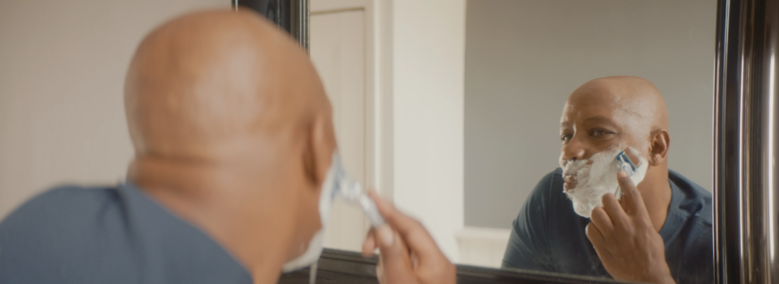 Ian Wright in a still from Gillette's 'A Letter To My Dad' campaign film