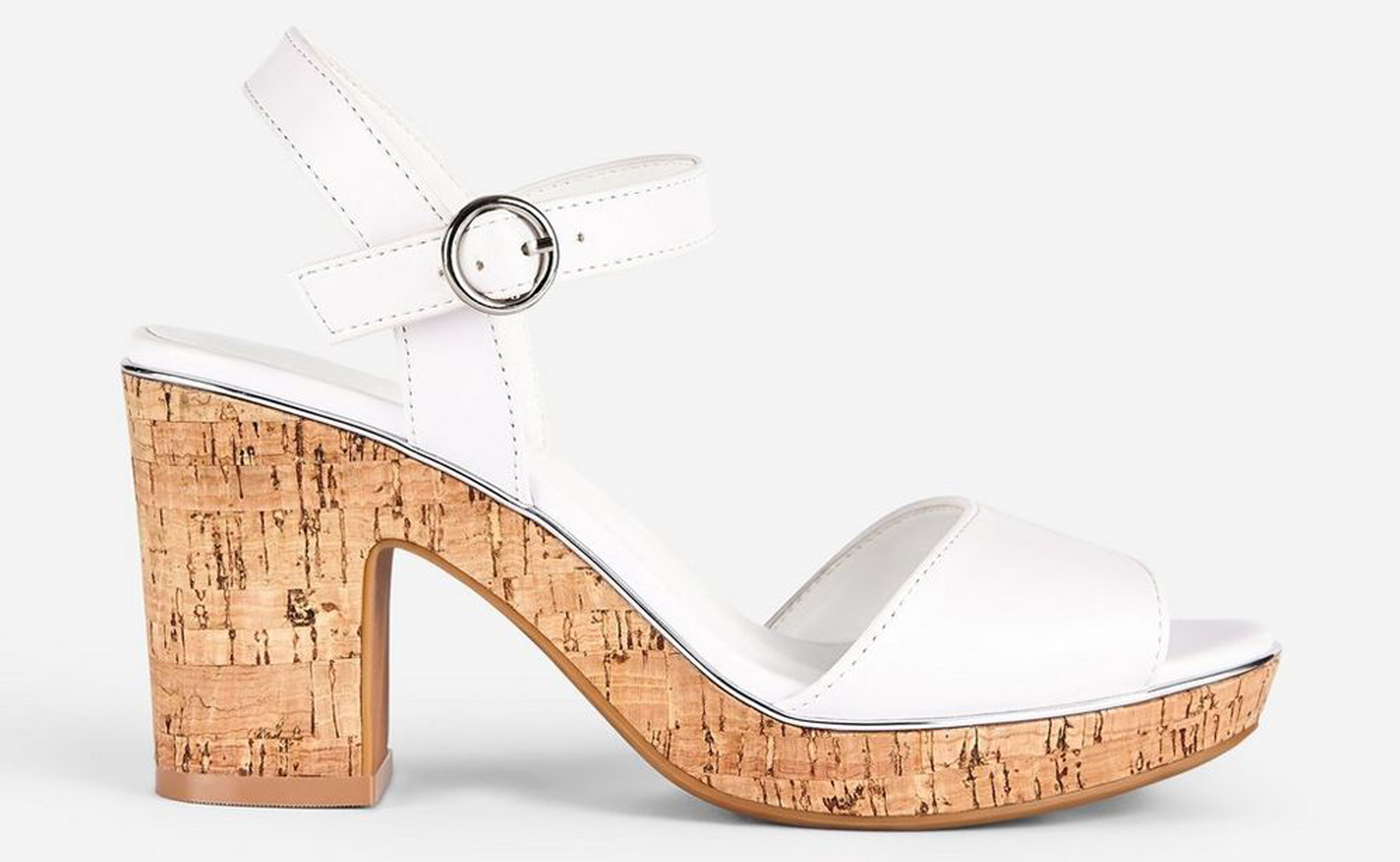 Dorothy Perkins White Rhonda 2 Part Wedges
