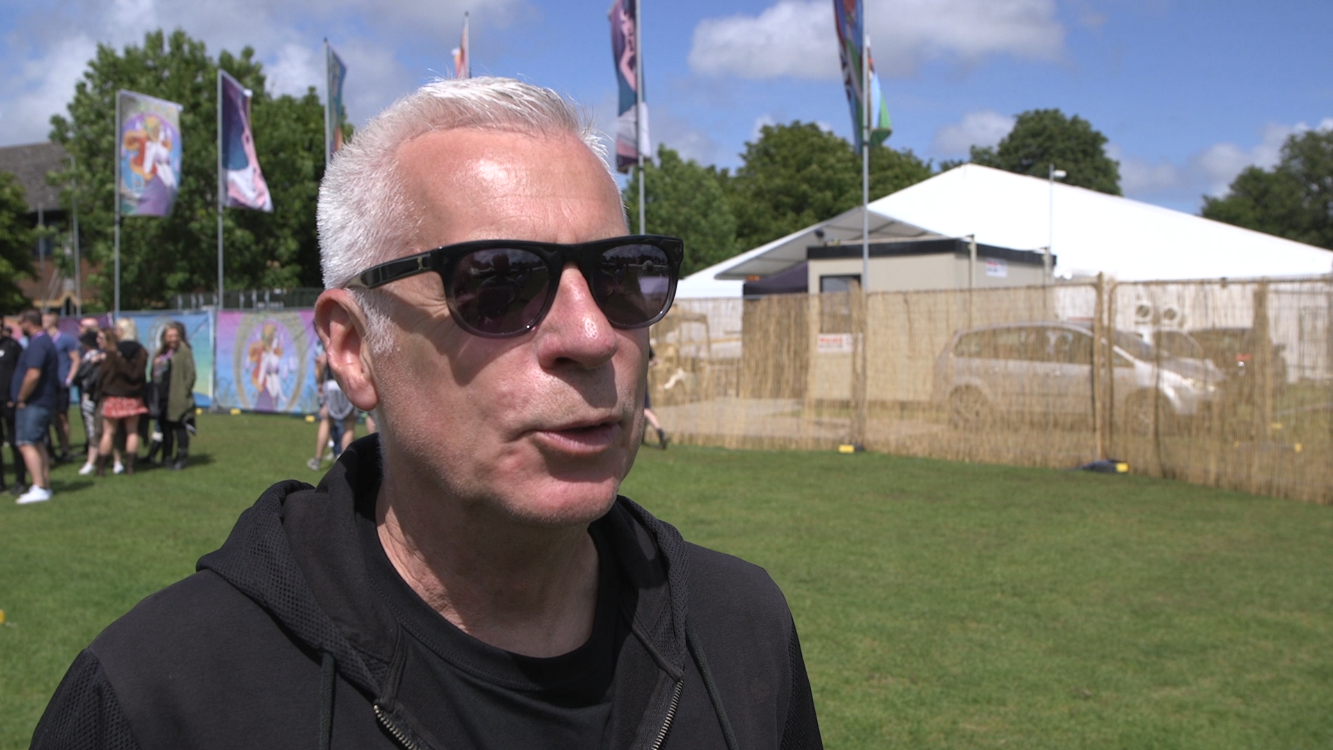 John Giddings at the festival on Friday