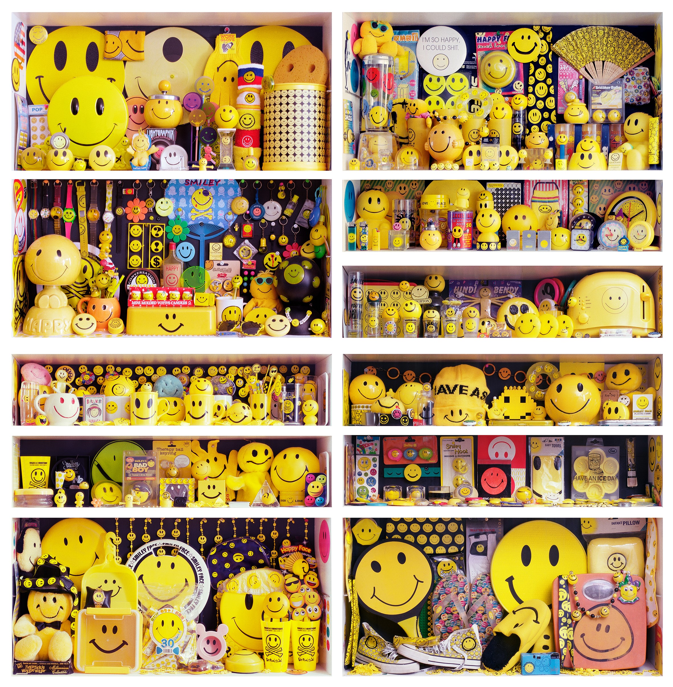 Fatboy Slim's Smiley Collection captured by British photographic artist Mark Vessey (Mark Vessey/PA)