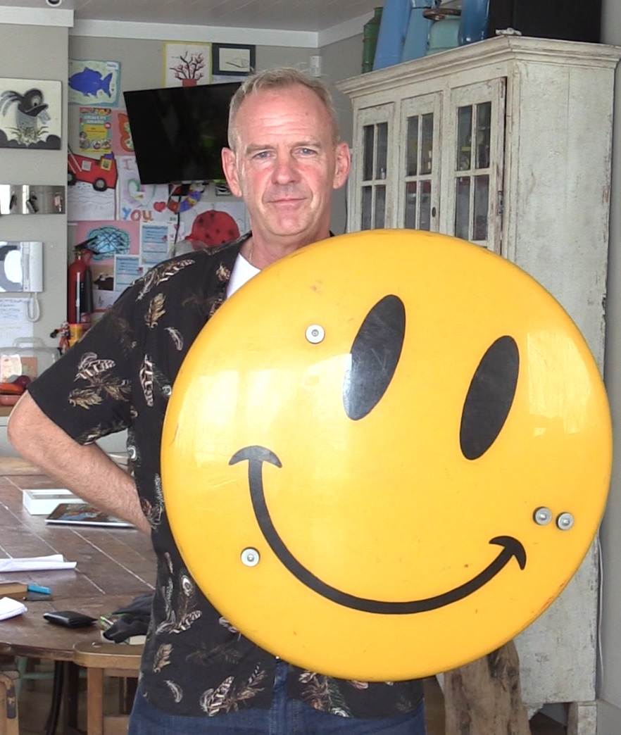 Cook with a Smiley shield by artist Jimmy Cauty (Flora Thompson/PA)