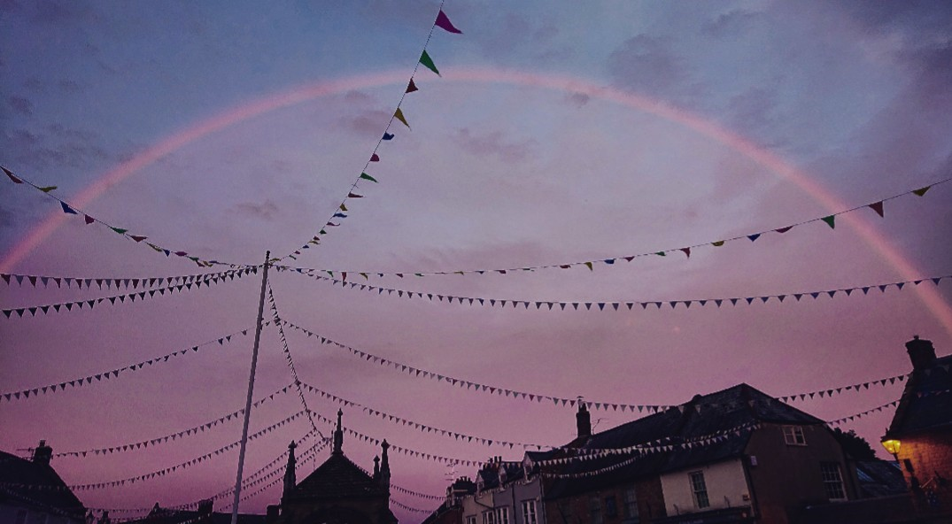 Pink Rainbow Lights Up The Sky  Shropshire Star-5195