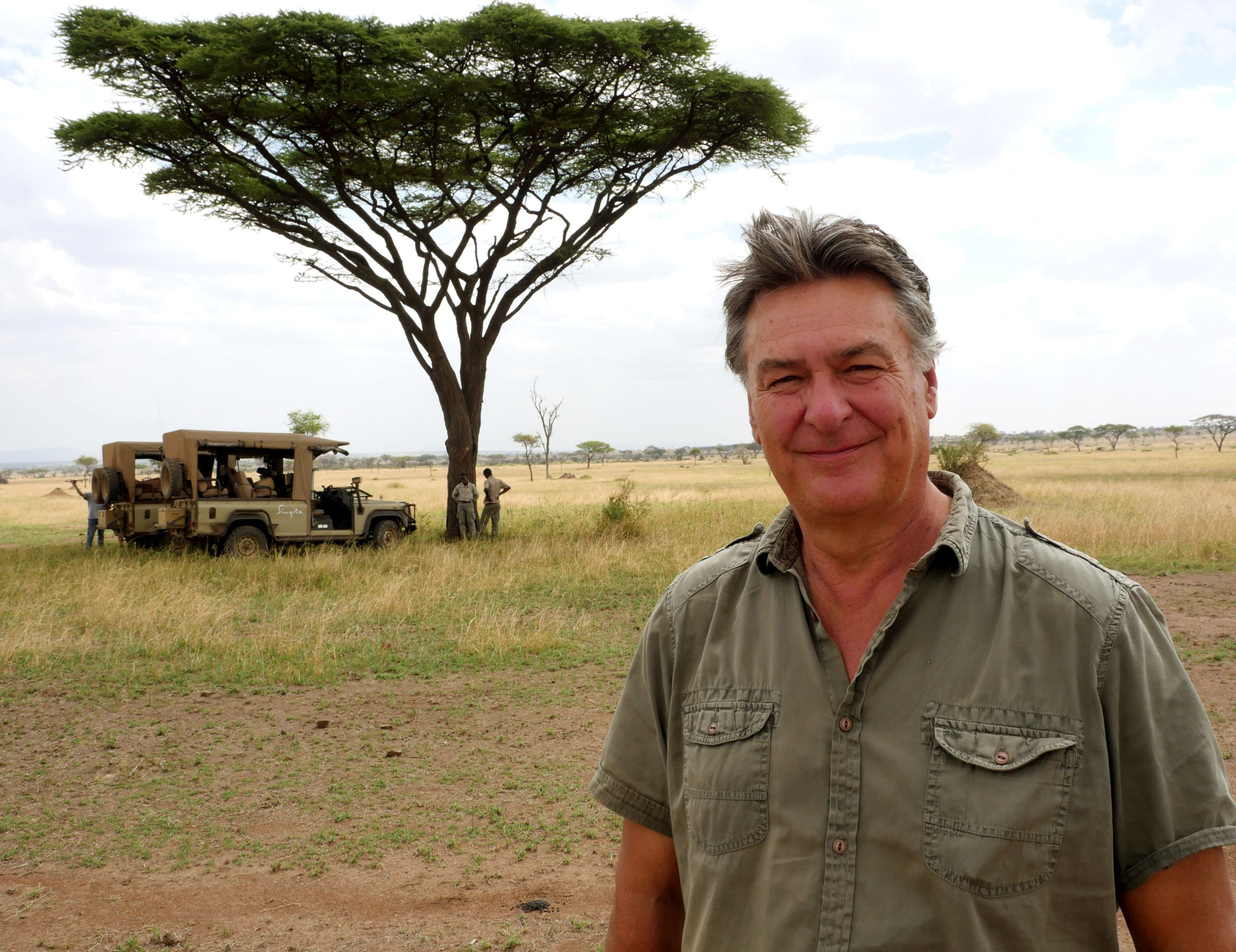 John Downer in the Serengeti (John Downer/BBC/PA)