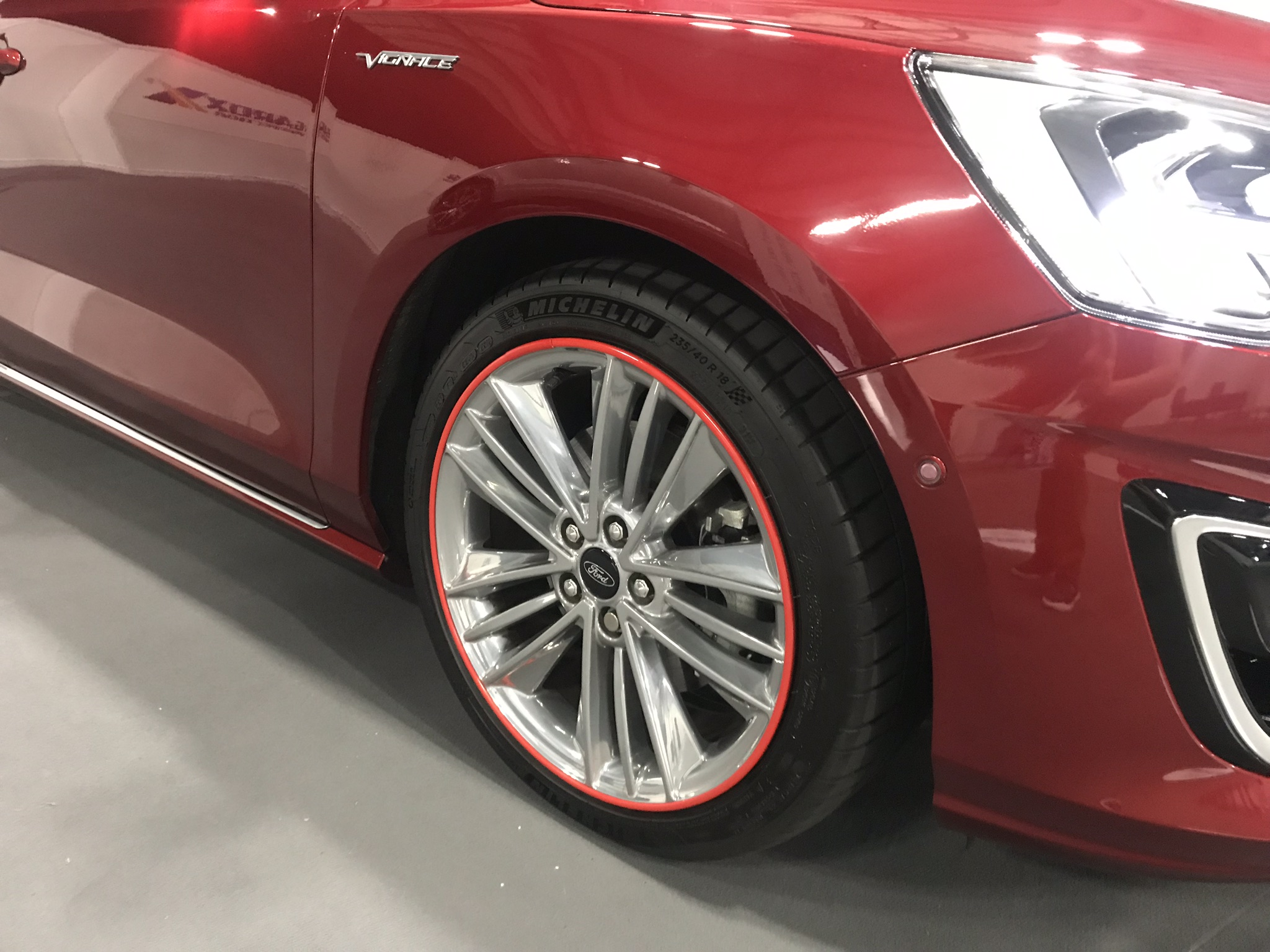 New alloy protectors help to keep the gleaming wheels protected