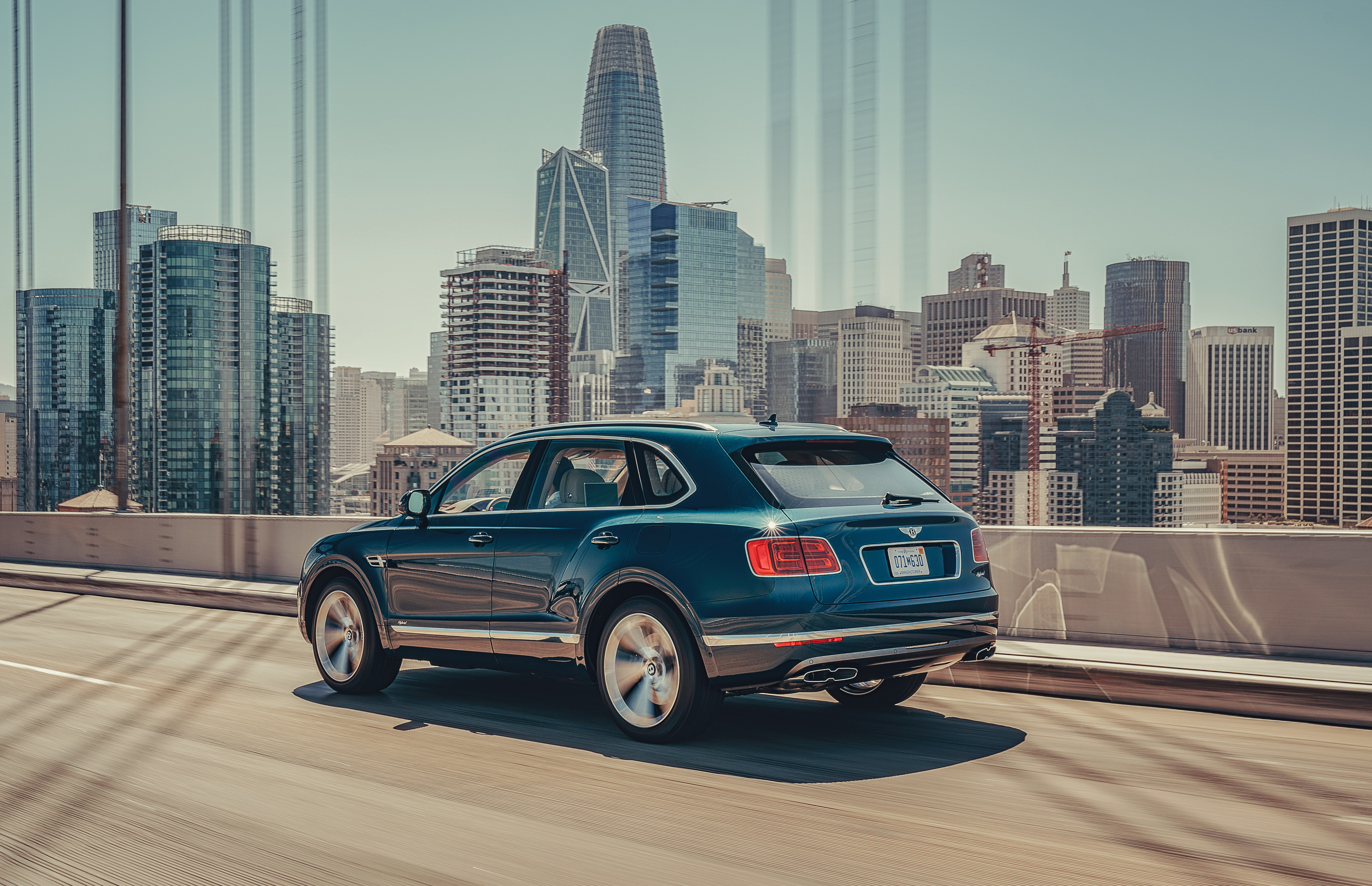 The Bentayga is a large car which is hard to miss