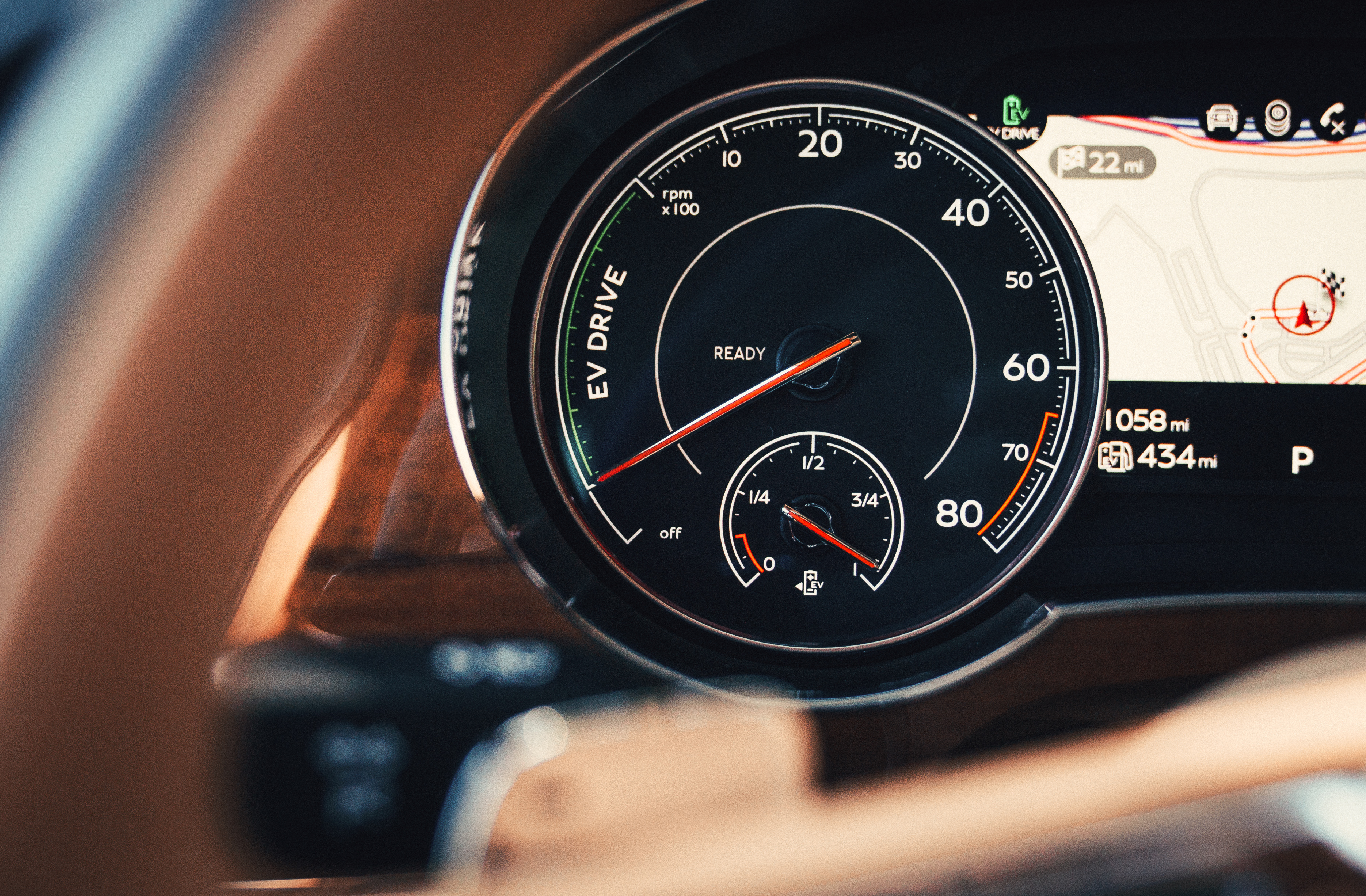 Unique hybrid-related dials are fitted to the Bentayga