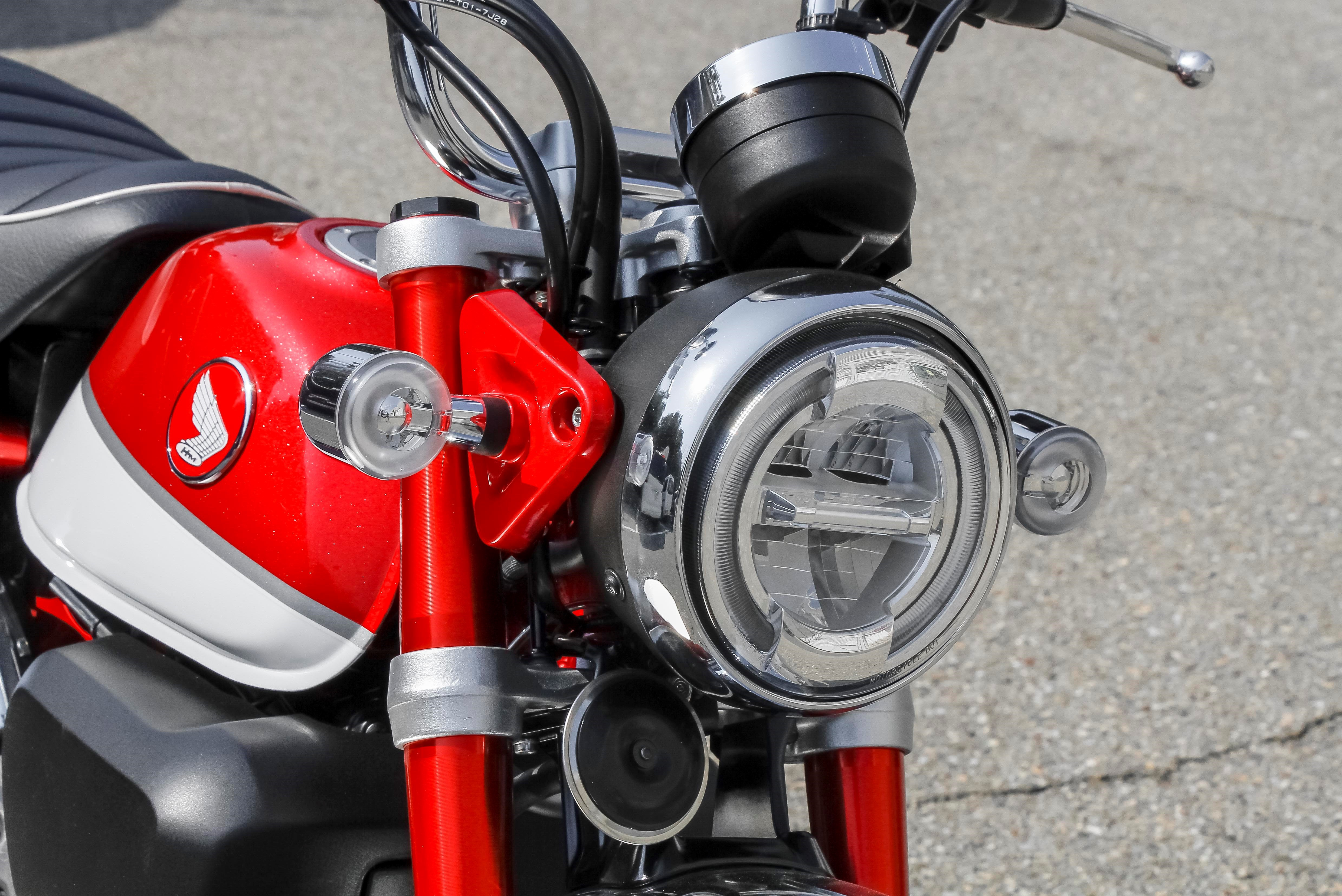 A full LED headlight gives good visibility