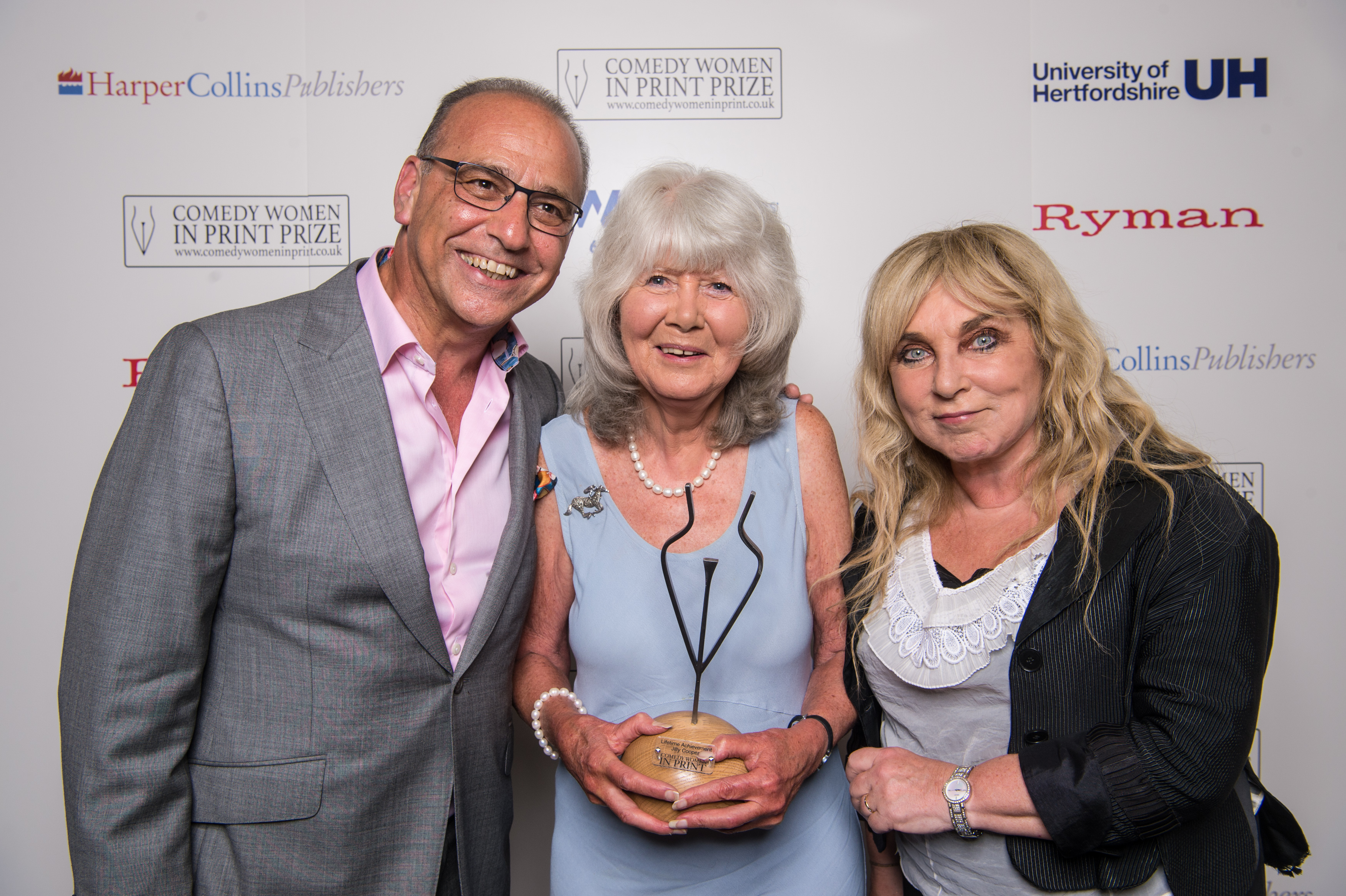 Jilly Cooper with Theo Paphitis and Helen Lederer