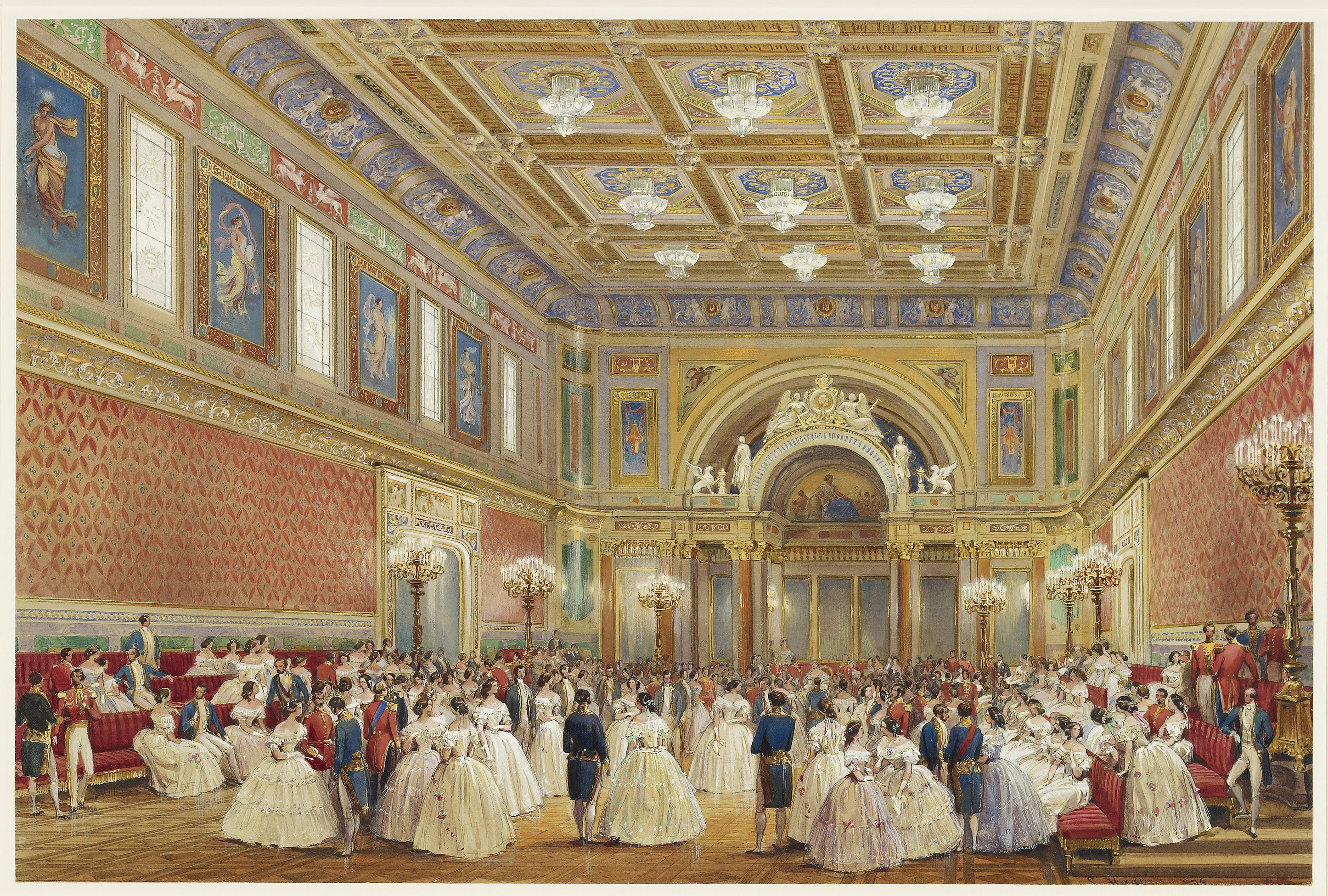 The Ballroom, Buckingham Palace in 1856